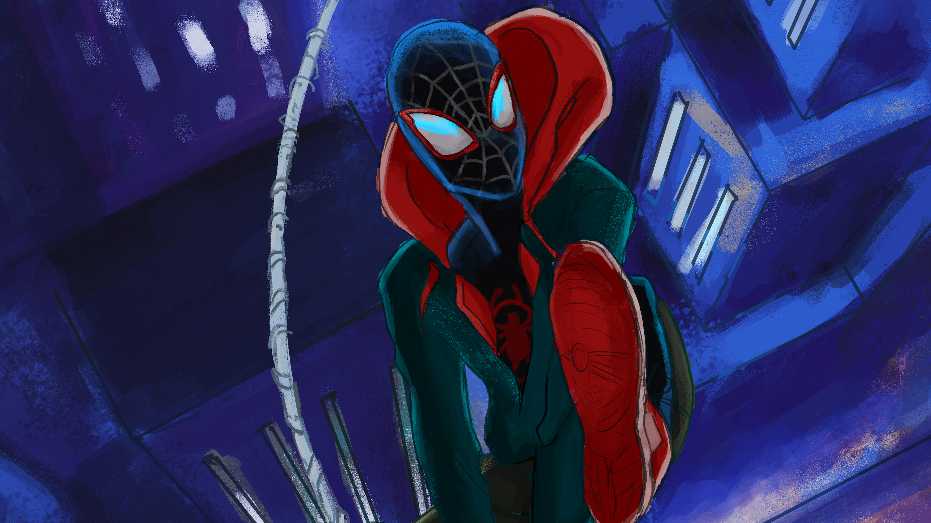 Wallpaper 4k Spiderman Miles Morales Art 4k New 4k Wallpapers