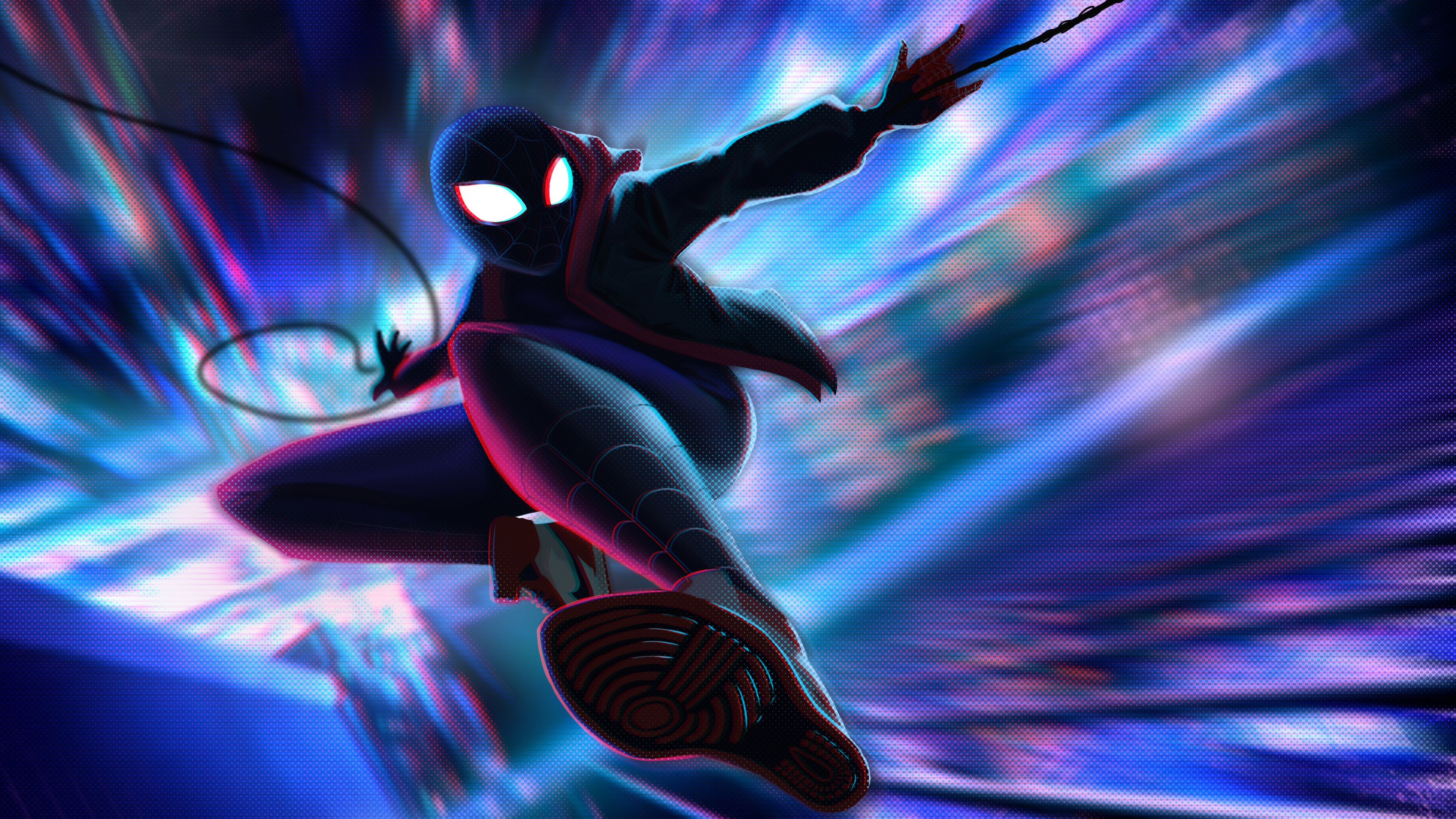 spiderman miles morales jump 4k 1547936611 - Spiderman Miles Morales Jump 4k - superheroes wallpapers, spiderman wallpapers, spiderman into the spider verse wallpapers, hd-wallpapers, digital art wallpapers, artwork wallpapers, artist wallpapers, 5k wallpapers, 4k-wallpapers