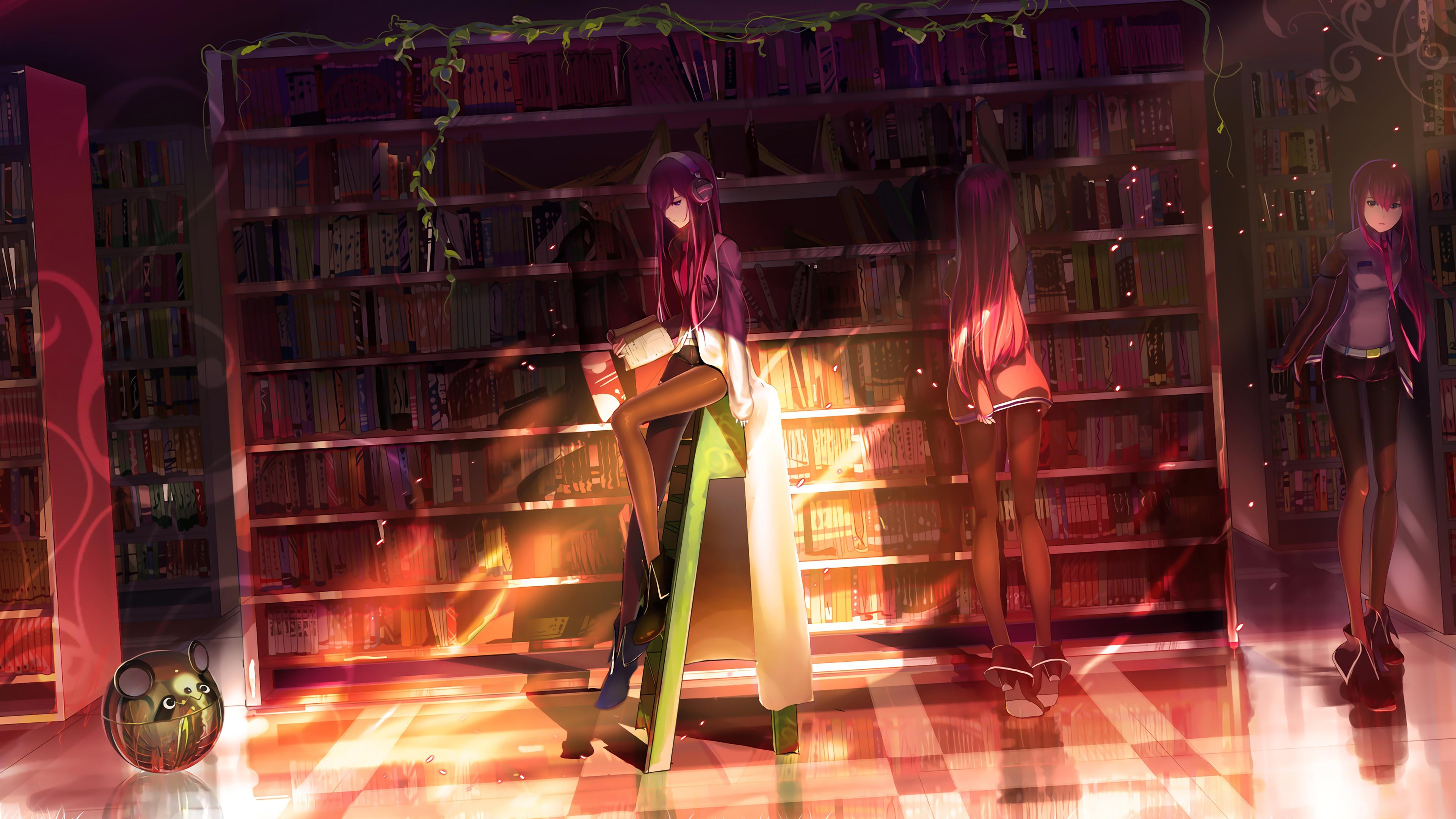 steins gate makise kurisu 4k 1547938675 - Steins Gate Makise Kurisu 4k - hd-wallpapers, digital art wallpapers, artwork wallpapers, artist wallpapers, anime wallpapers, anime girl wallpapers, 4k-wallpapers
