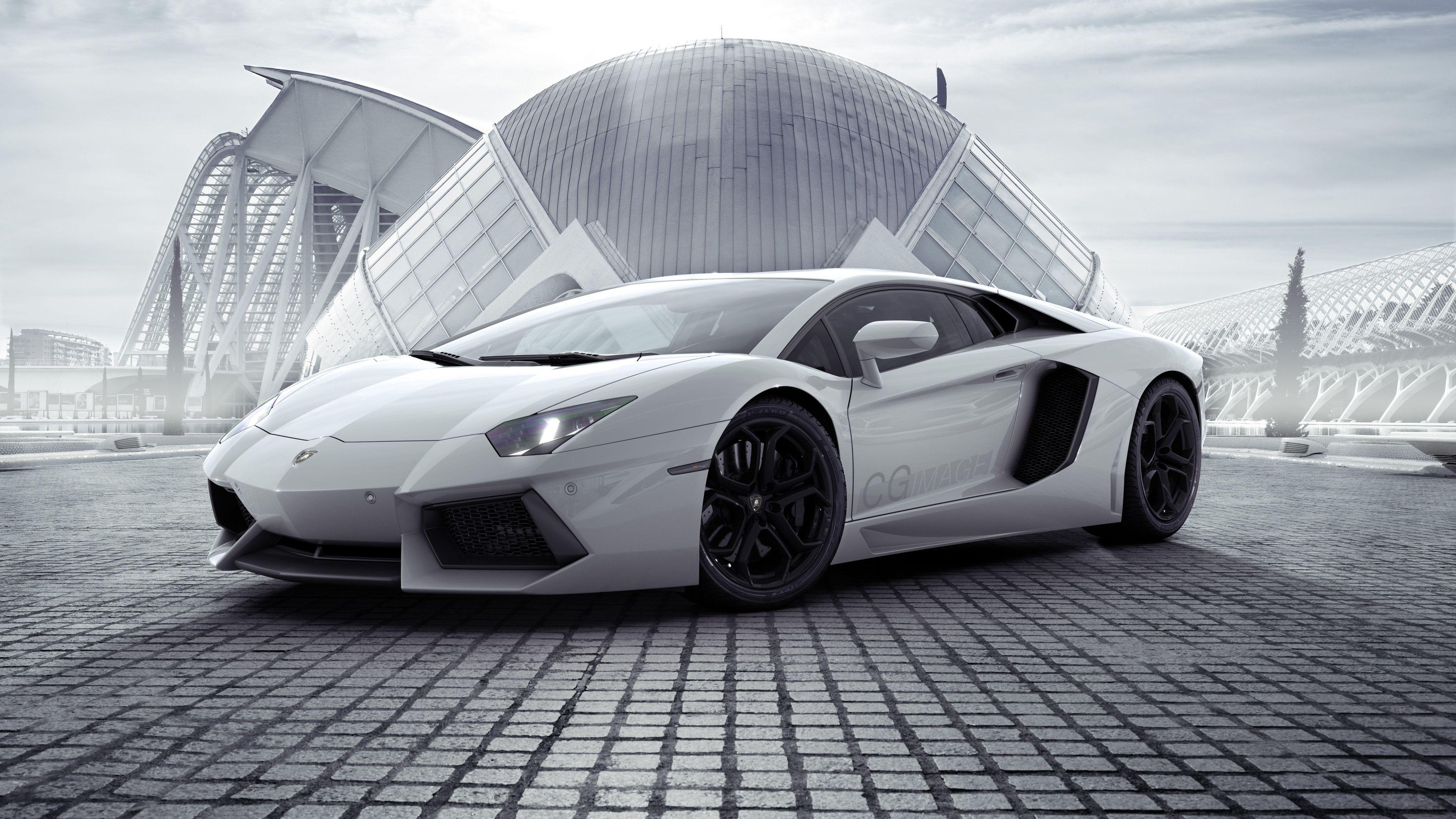 2048x2048 2018 Lamborghini Aventador Svj 4k Ipad Air Hd 4k: White Lamborghini Aventador New 4k Lamborghini Wallpapers