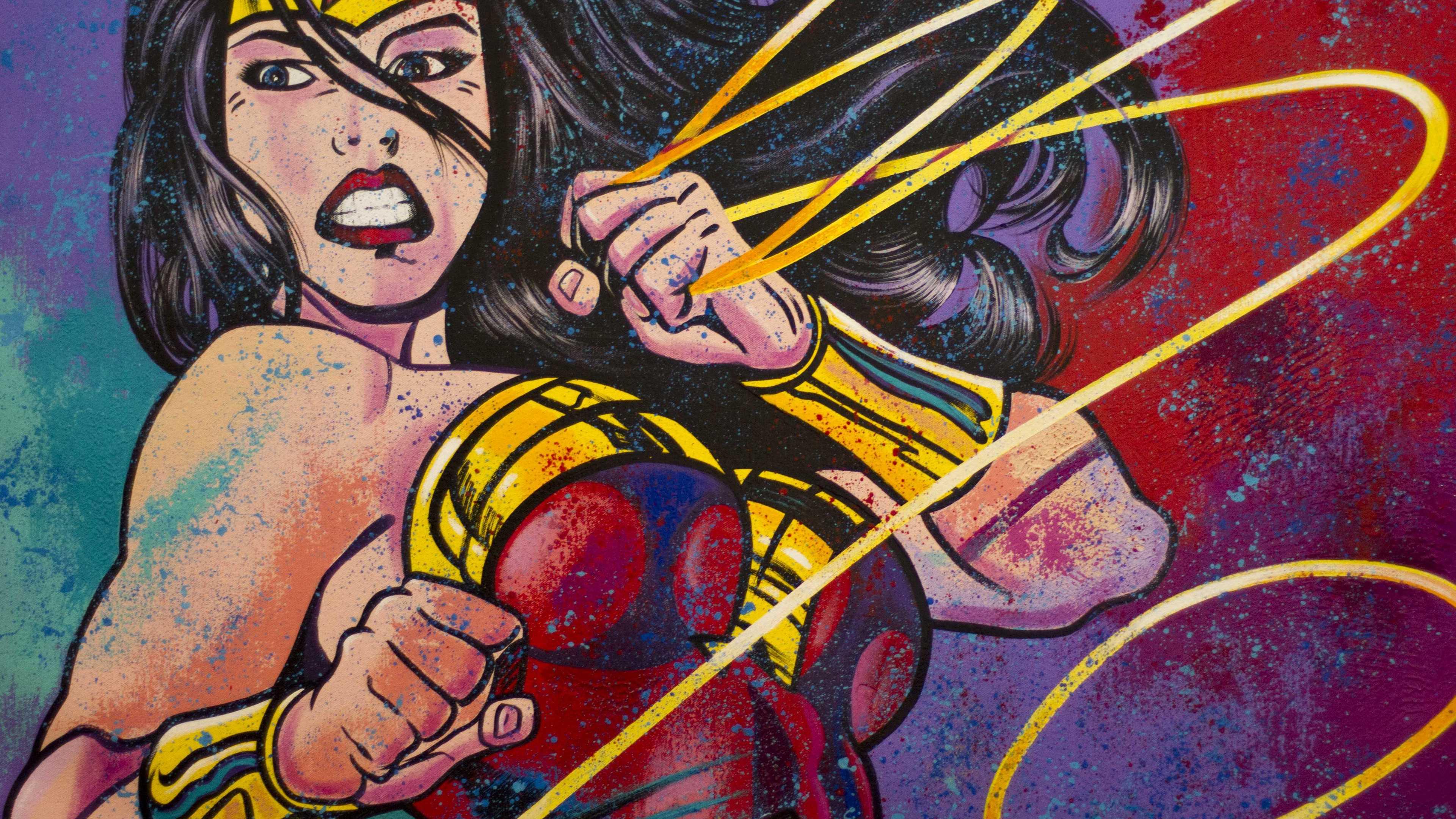 wonder woman painting arts 4k 1547319673 - Wonder Woman Painting Arts 4k - wonder woman wallpapers, superheroes wallpapers, painting wallpapers, hd-wallpapers, 4k-wallpapers