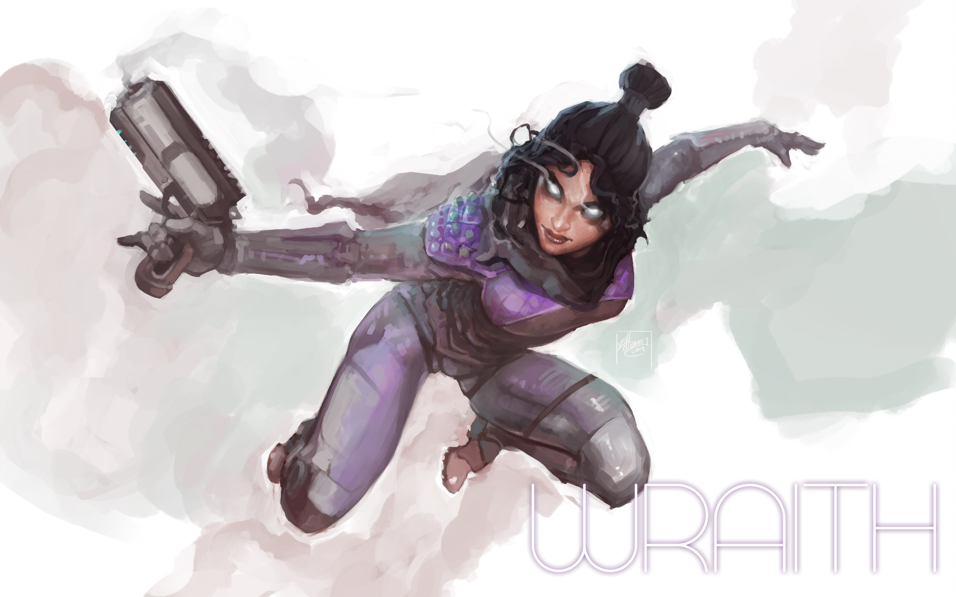 Wallpaper 4k Apex Legends Wraith Art 2019 Hd Apex Legends 4k