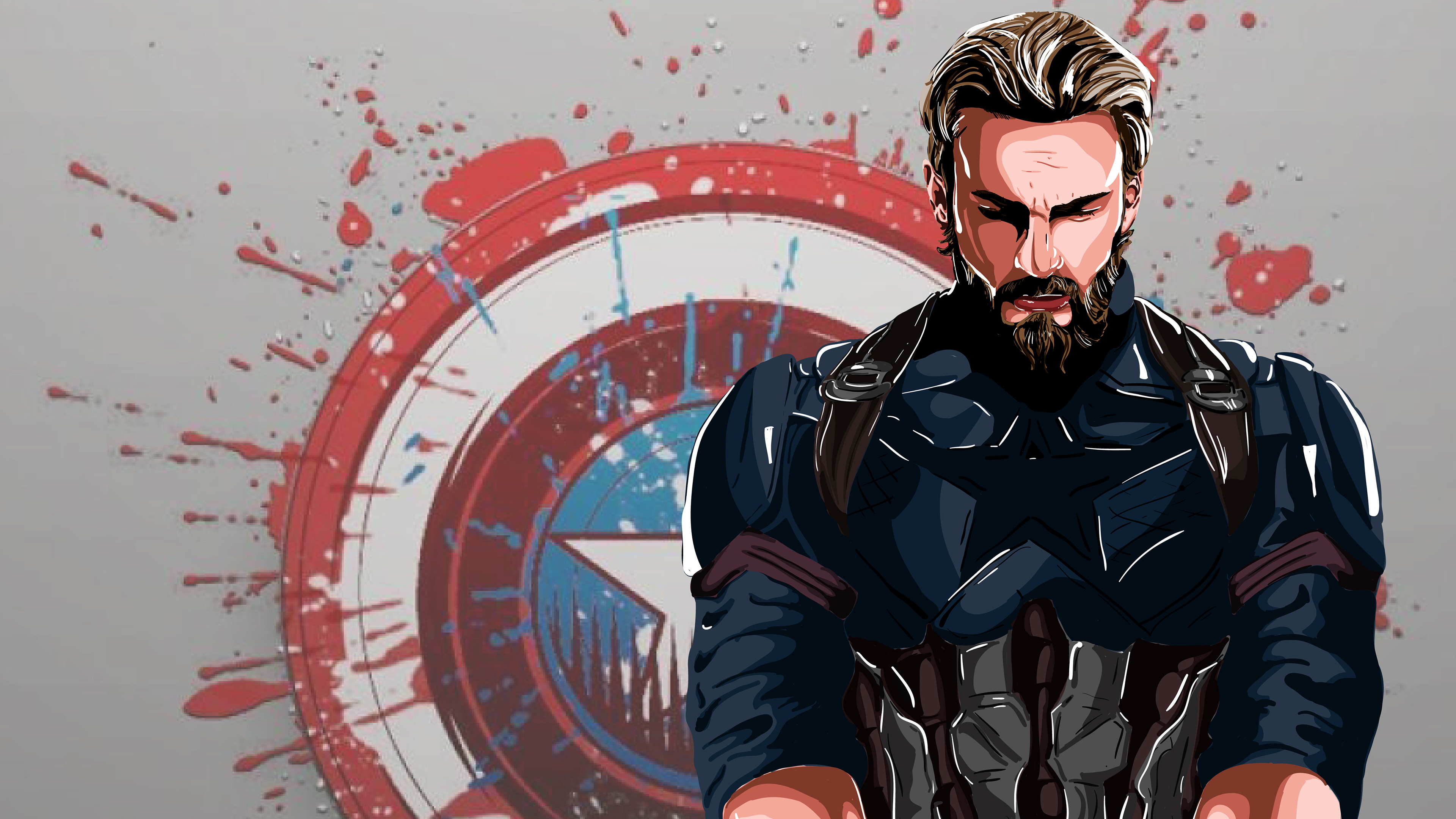 Captain America New Art 4k superheroes wallpapers, hd ...