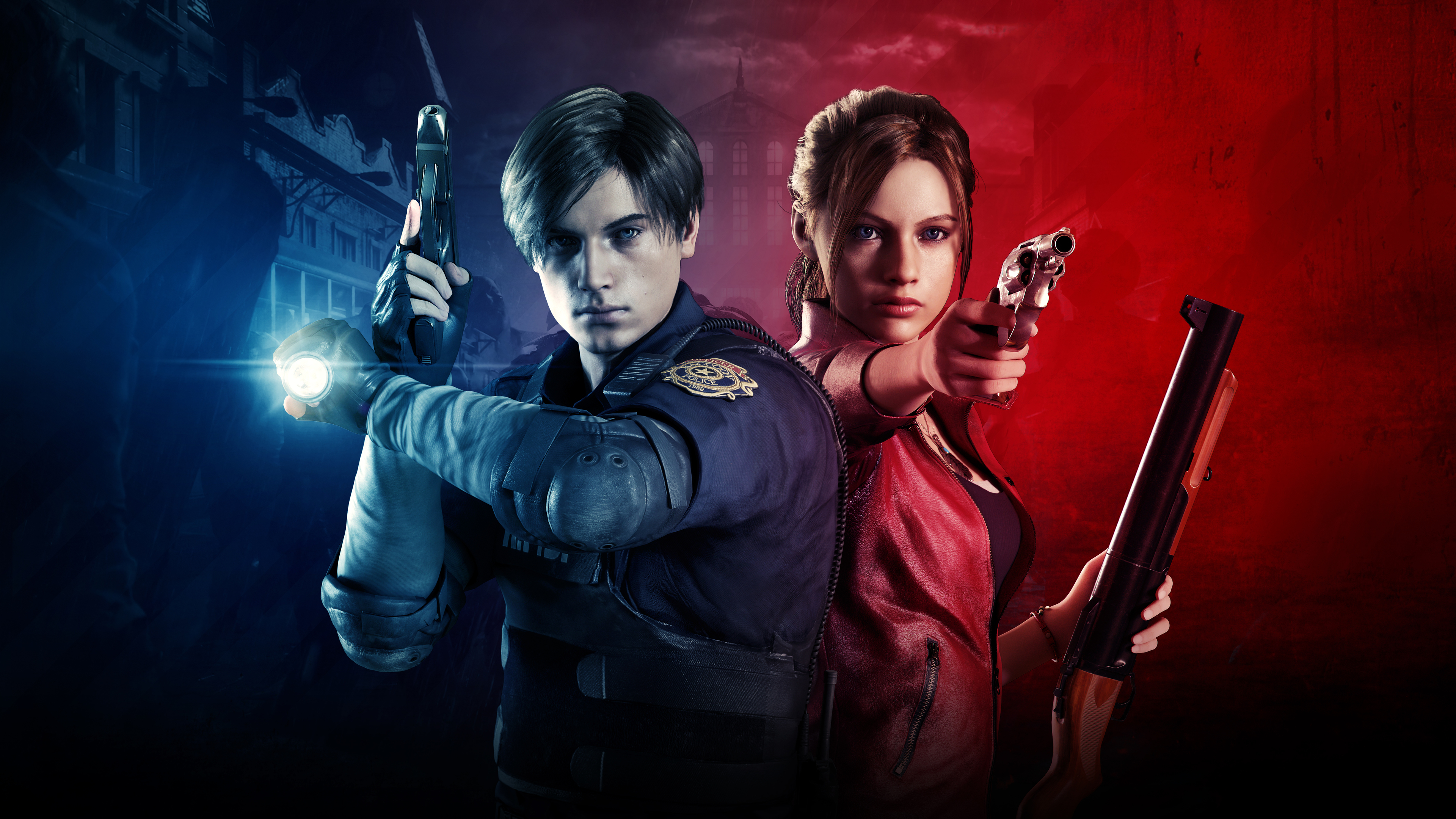 Wallpaper 4k Claire Redfield And Leon Resident Evil 2 4k 2019