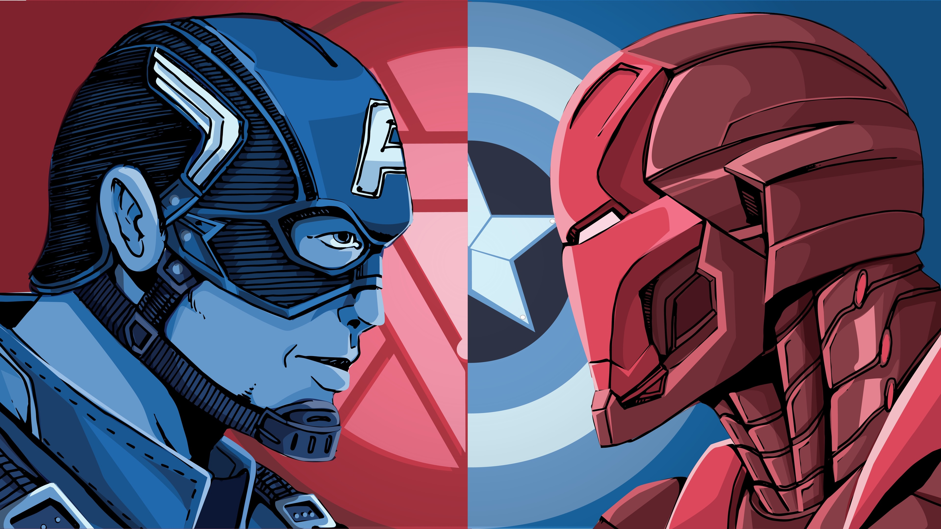 iron man and captain america 4k 1550510618 - Iron Man And Captain America 4k - superheroes wallpapers, iron man wallpapers, hd-wallpapers, captain america wallpapers, artwork wallpapers, 8k wallpapers, 5k wallpapers, 4k-wallpapers