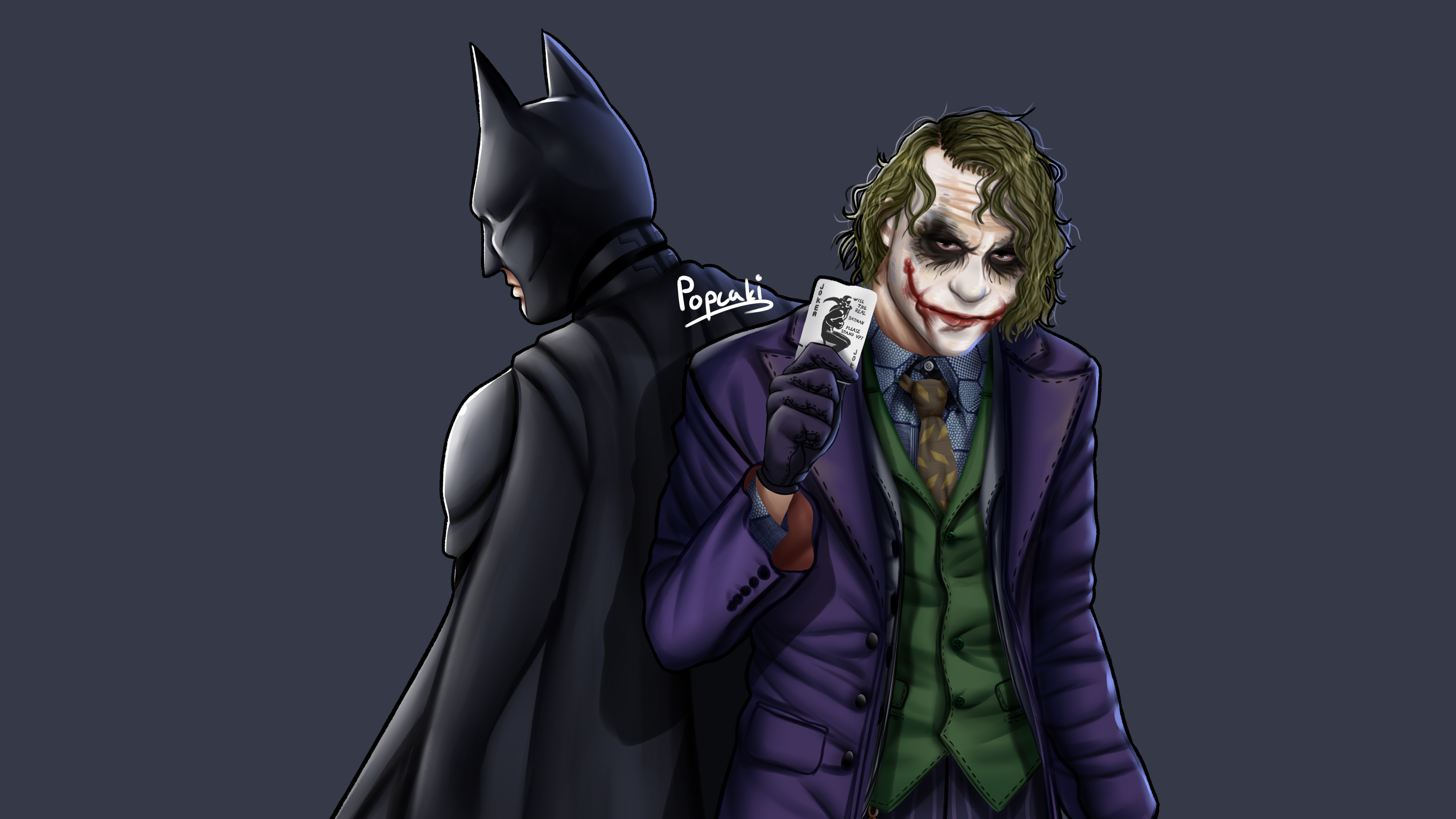Wallpaper 4k Joker Batman Art 4k 4k Wallpapers 5k