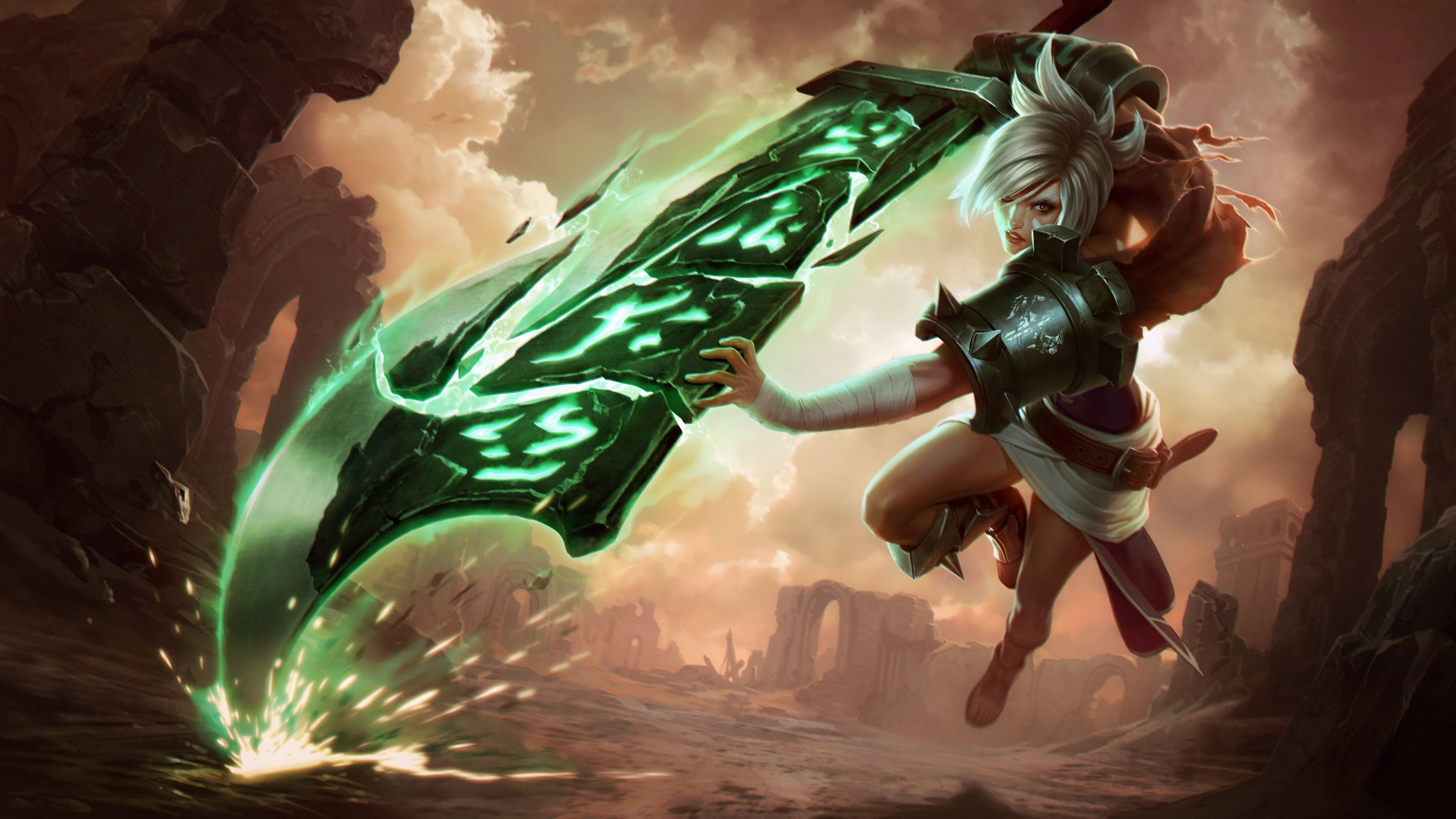 Wallpaper 4k Riven League Of Legends 4k 4k Wallpapers Artist