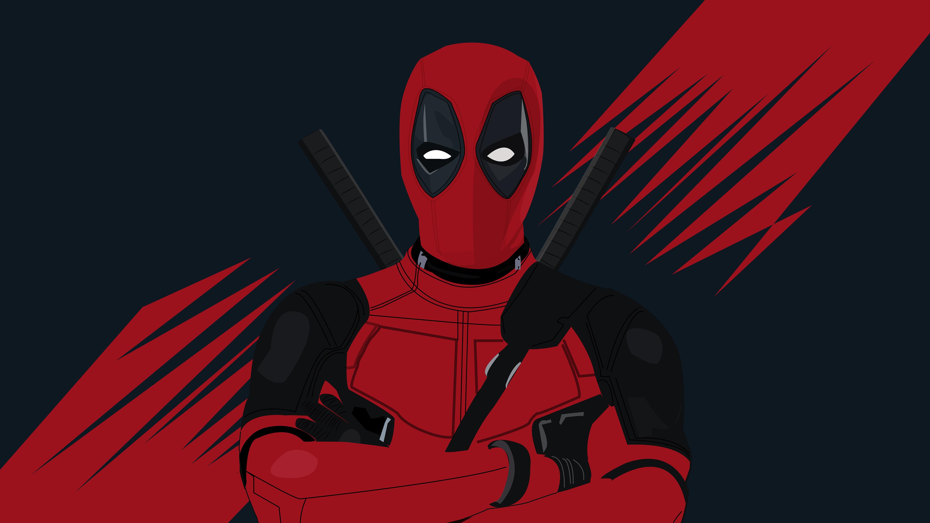 4k deadpool minimal 2019 1553072179 - 4k Deadpool Minimal 2019 - superheroes wallpapers, hd-wallpapers, digital art wallpapers, deadpool wallpapers, behance wallpapers, artwork wallpapers, artist wallpapers, 4k-wallpapers