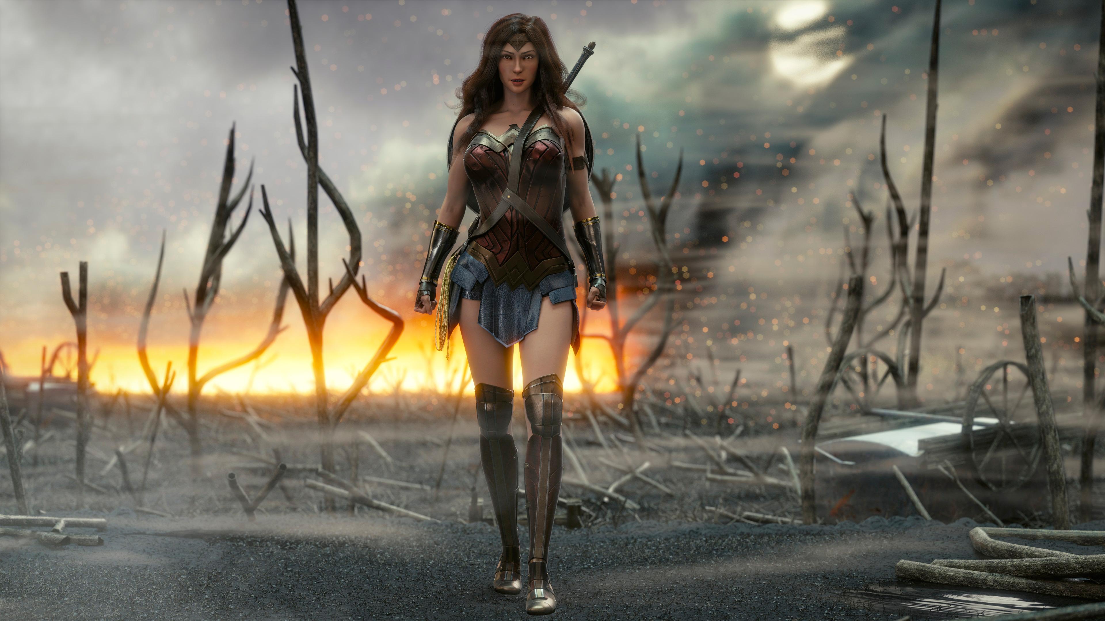 4k new wonder woman 1553071917 - 4k New Wonder Woman - wonder woman wallpapers, superheroes wallpapers, hd-wallpapers, deviantart wallpapers, artwork wallpapers, artist wallpapers, 4k-wallpapers