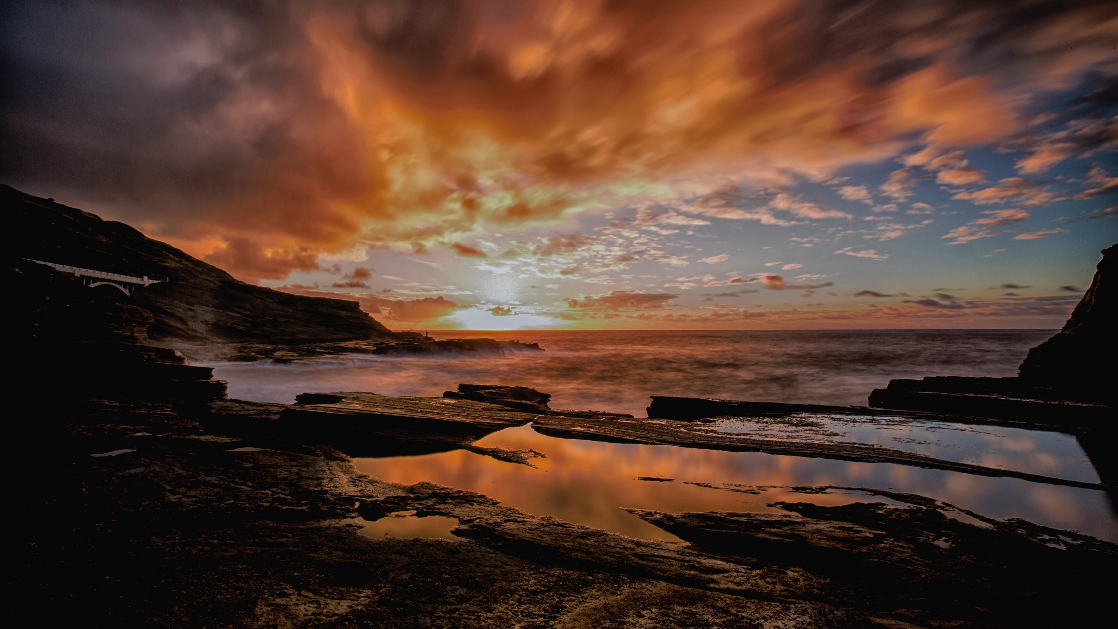 backlit dusk dawn seashore 4k 1551643412 - Backlit Dusk Dawn Seashore 4k - seashore wallpapers, nature wallpapers, hd-wallpapers, dusk wallpapers, dawn wallpapers, 4k-wallpapers
