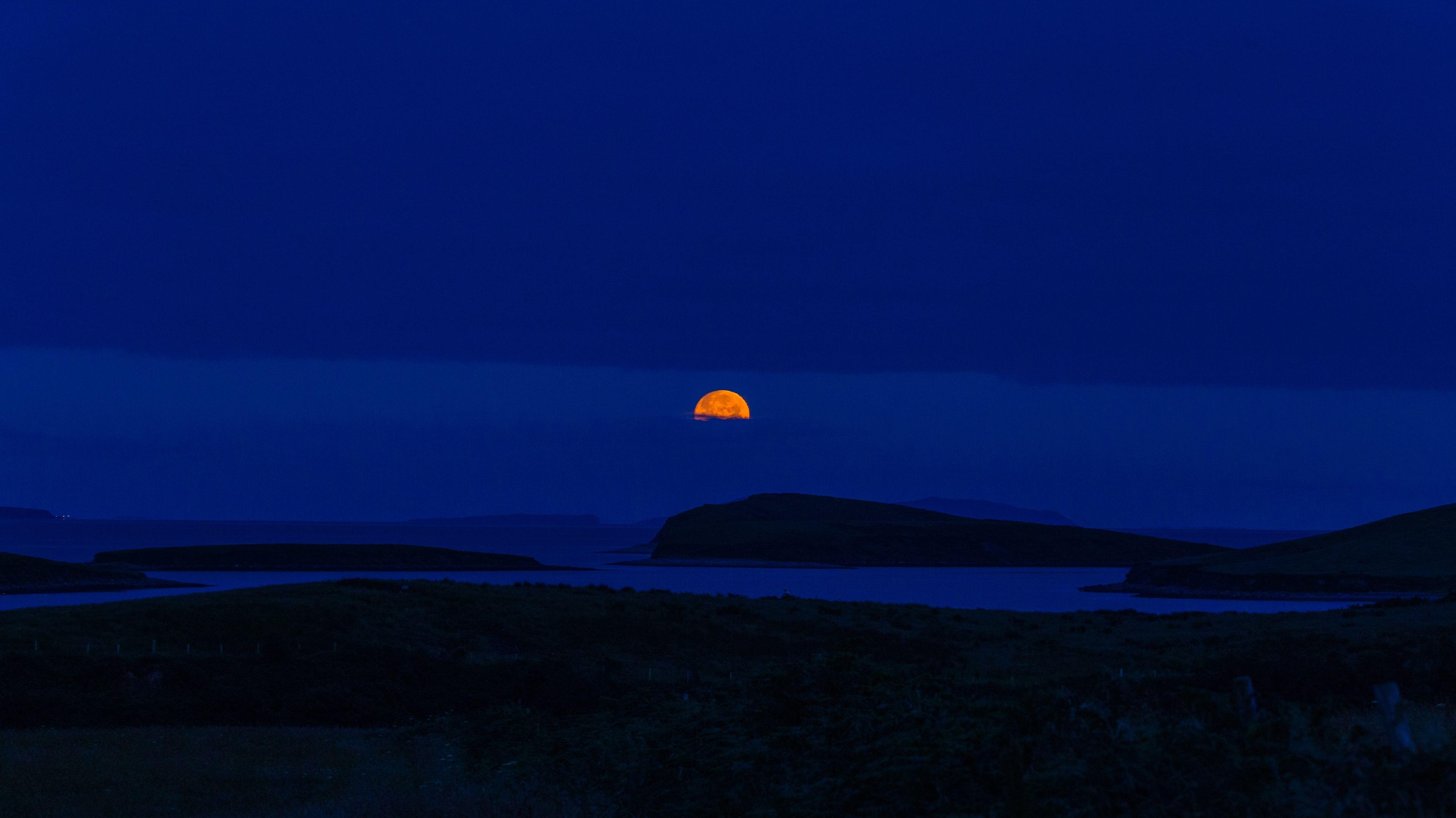 blue sky dark sunset 4k 1551643565 - Blue Sky Dark Sunset 4k - sunset wallpapers, nature wallpapers, hd-wallpapers, blue wallpapers, 4k-wallpapers
