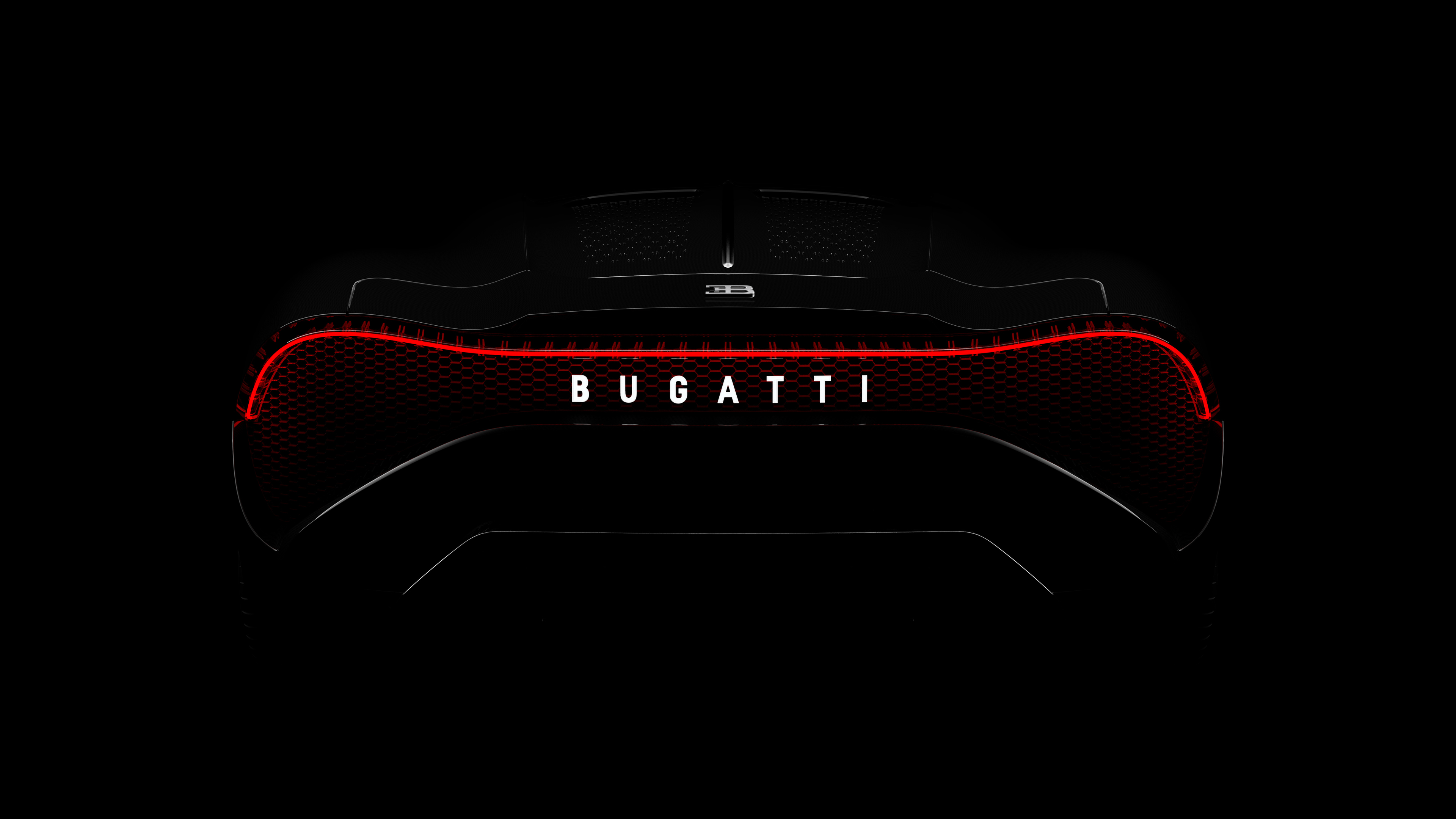 Wallpaper 4k Bugatti La Voiture Noire 2019 Rear Lights 4k