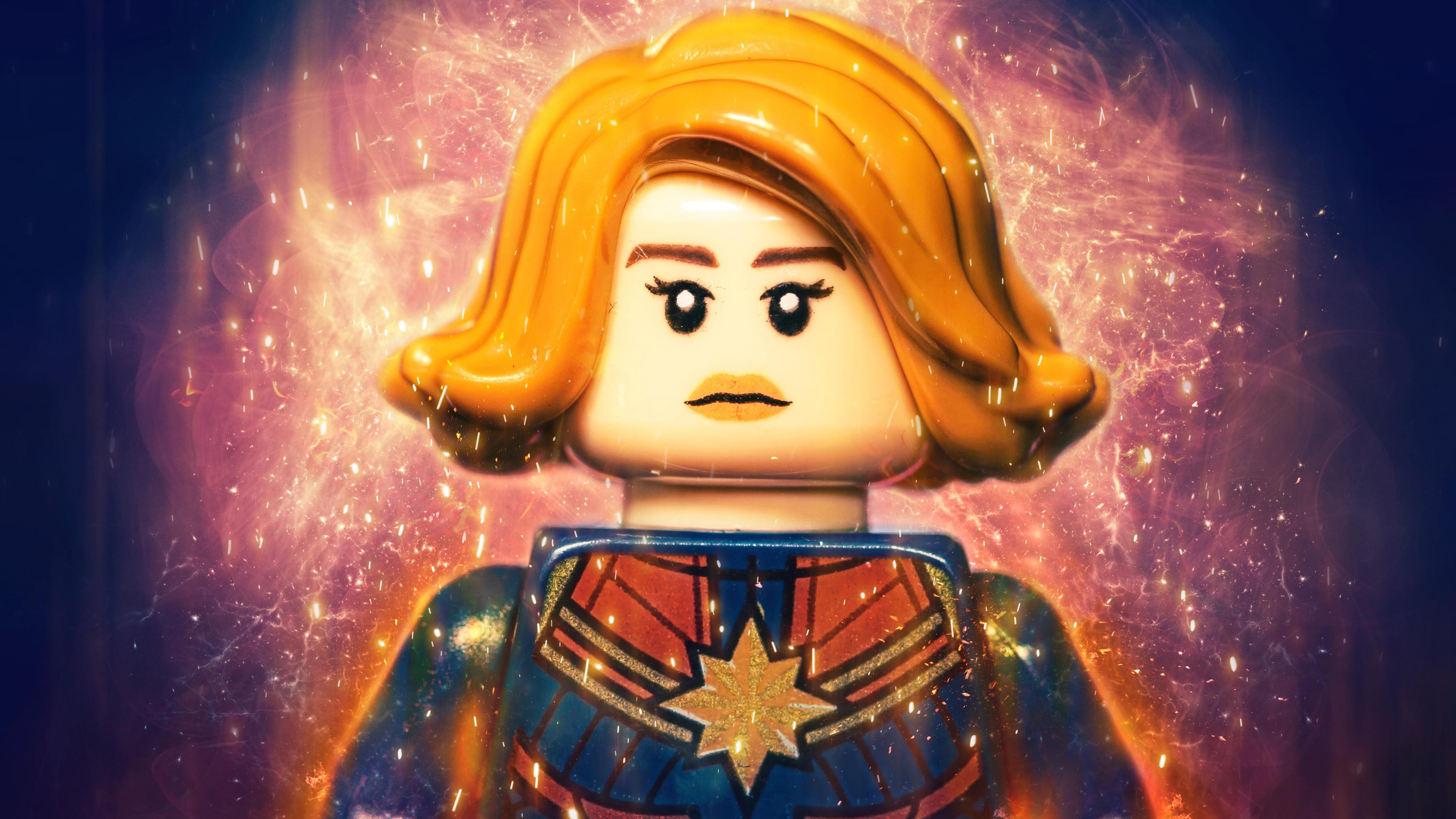 captain marvel lego 4k 1553071892 - Captain Marvel Lego 4k - superheroes wallpapers, lego wallpapers, hd-wallpapers, flickr wallpapers, captain marvel wallpapers, 4k-wallpapers