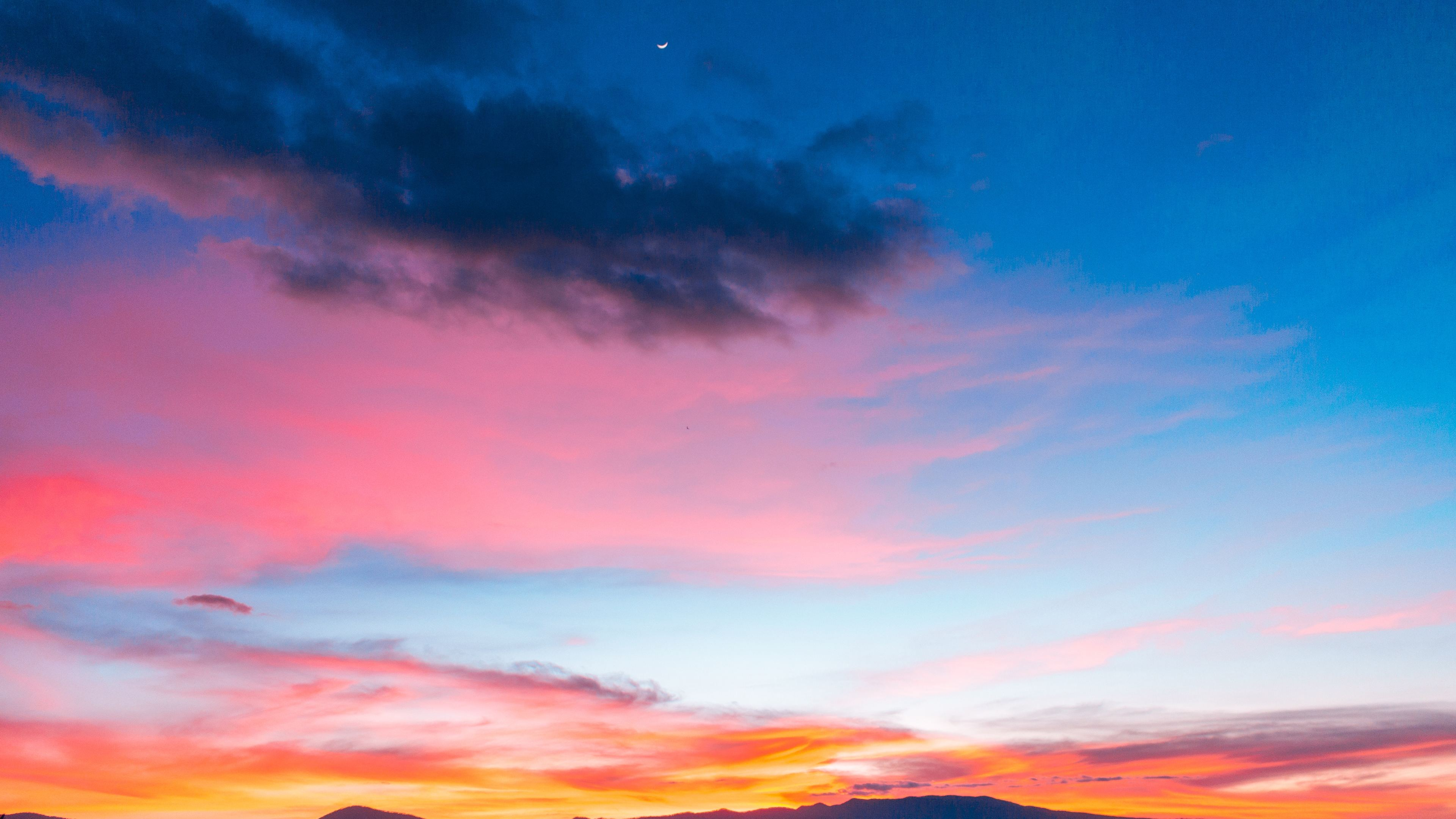 colorful sunset sky 4k 1551643151 - Colorful Sunset Sky 4k - sunset wallpapers, sky wallpapers, nature wallpapers, hd-wallpapers, colorful wallpapers, 5k wallpapers, 4k-wallpapers