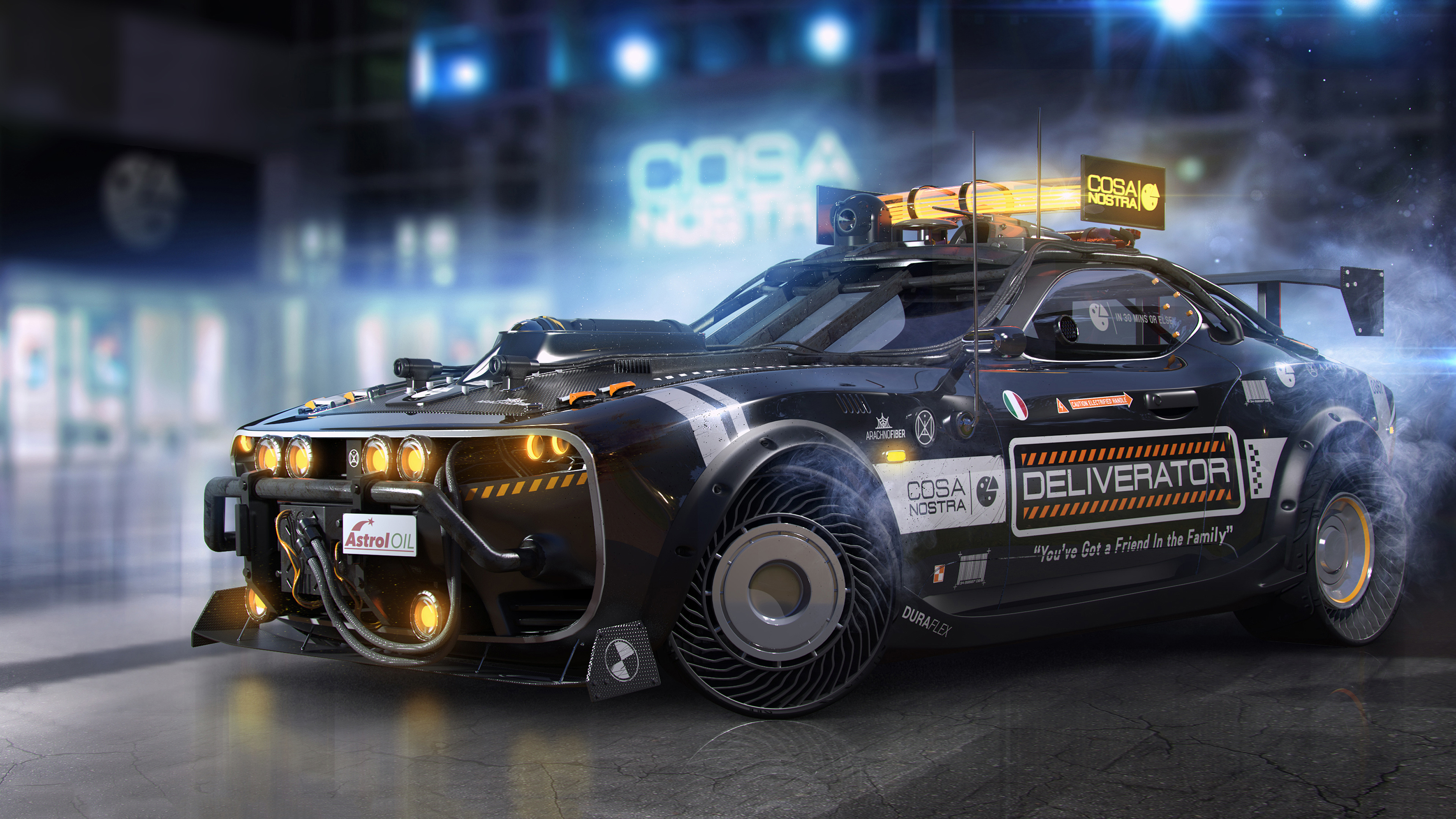 Wallpaper 4k Cosa Nostra Pizza Delivery Vehicle 4k 4k