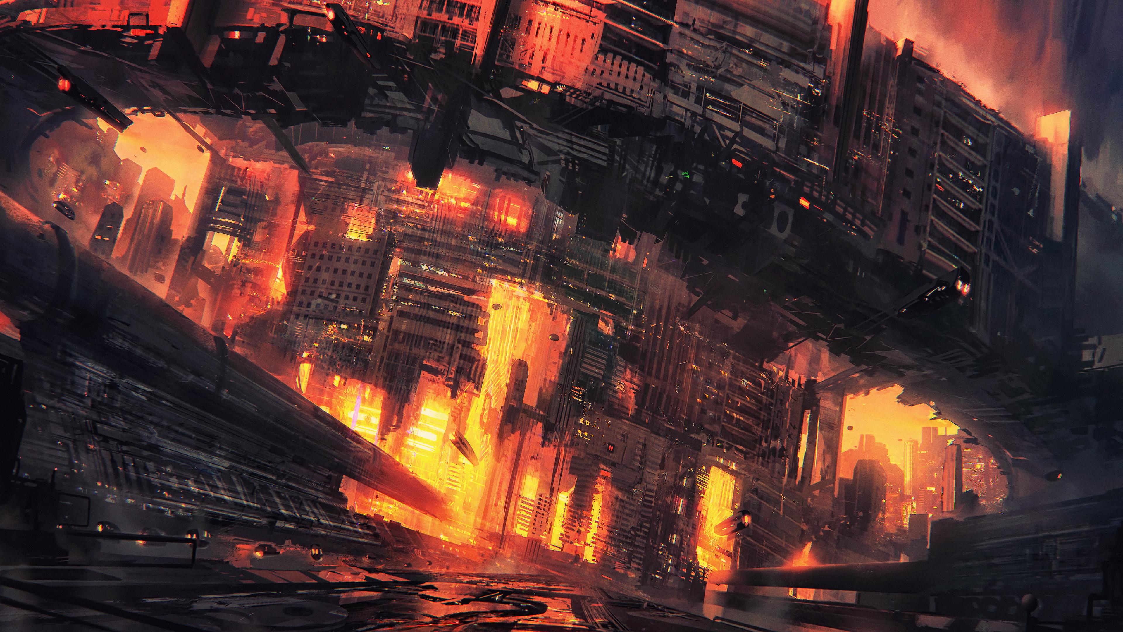cyberpunk city concept art 4k 1551642015 - Cyberpunk City Concept Art 4k - hd-wallpapers, digital art wallpapers, cyberpunk wallpapers, concept art wallpapers, city wallpapers, artwork wallpapers, artist wallpapers, 4k-wallpapers