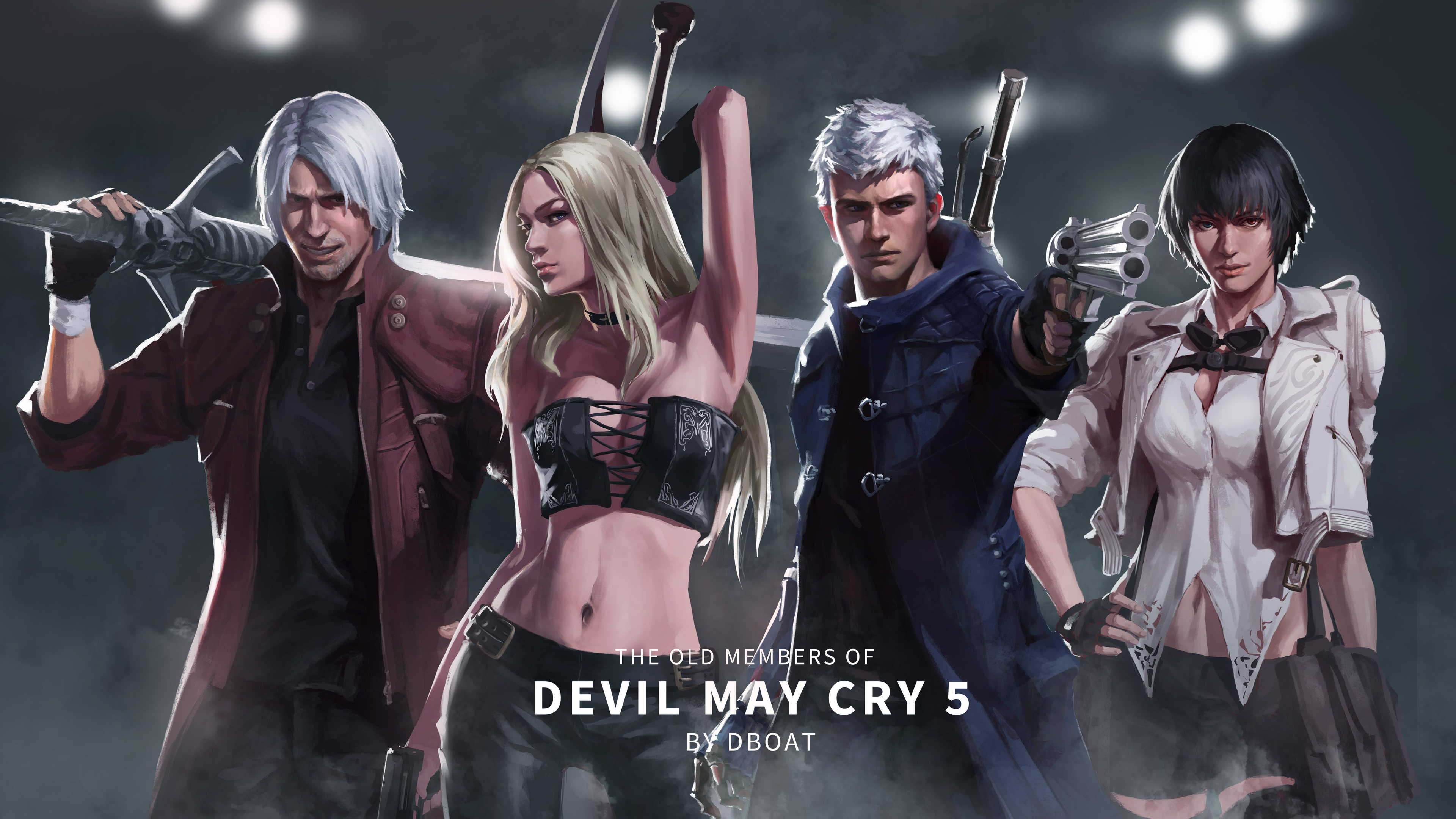Wallpaper 4k Devil May Cry 5 Old Members 4k 2019 Games