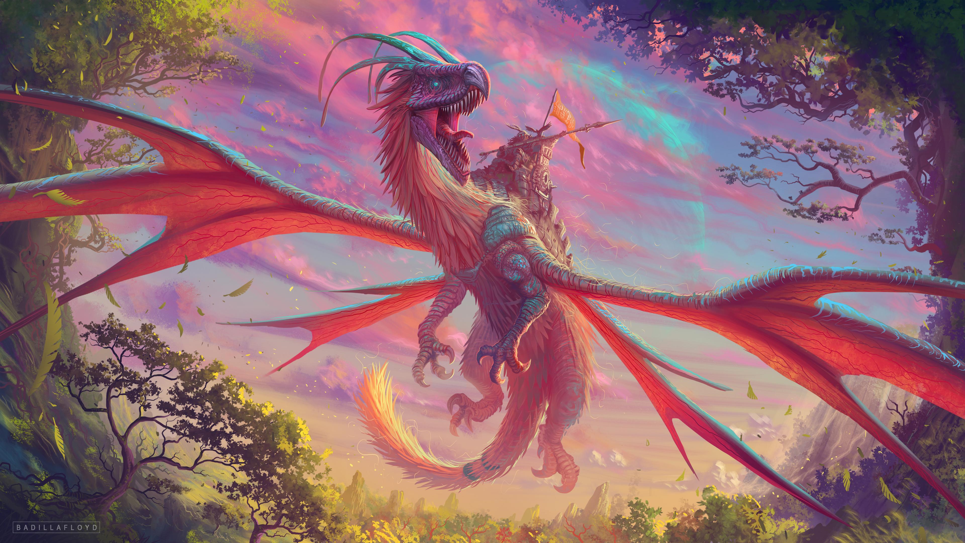 Wallpaper 4k Dragon Warrior Art 4k 4k Wallpapers Artist Wallpapers