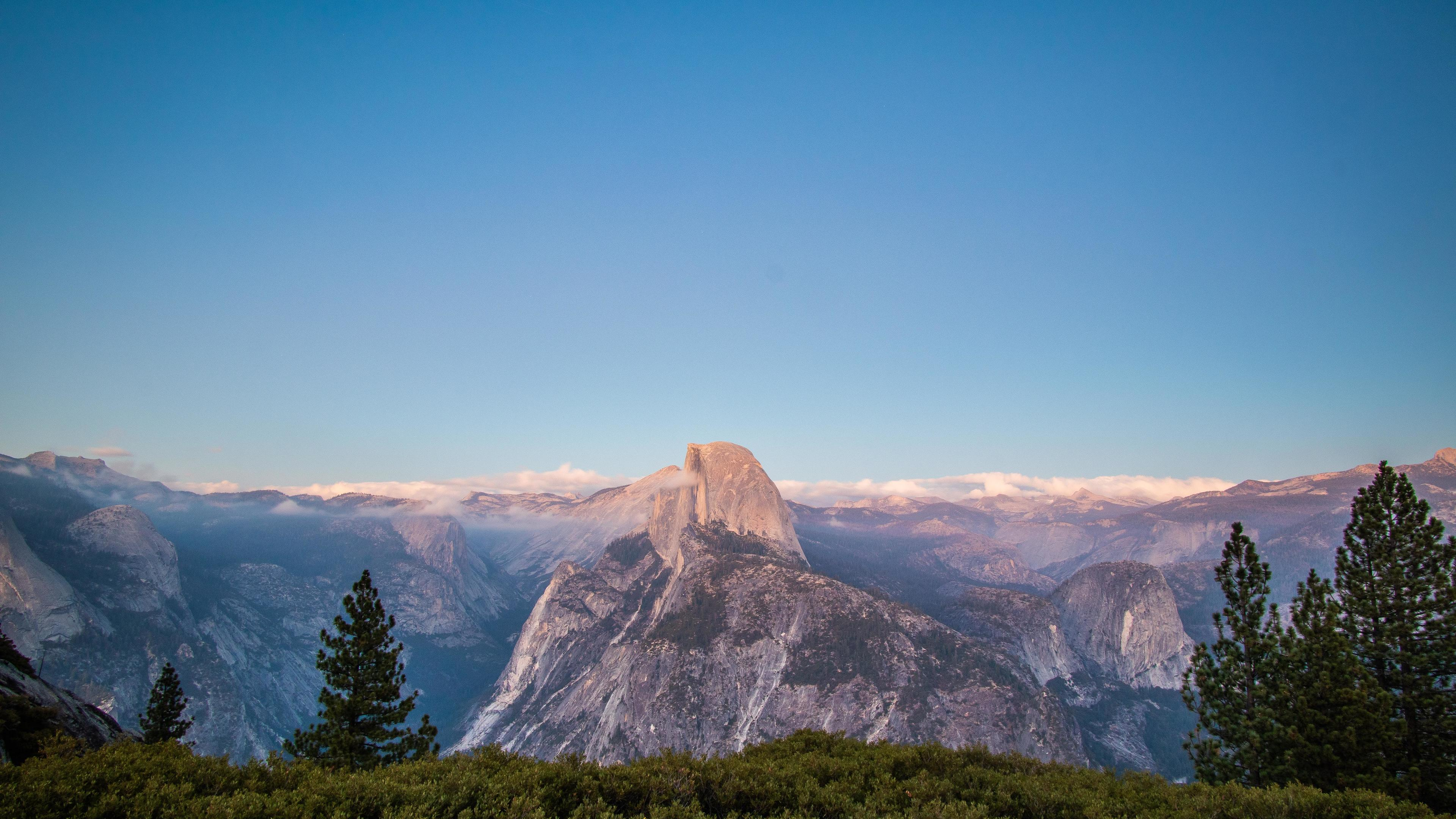 glacier point yosemite 4k 1551643045