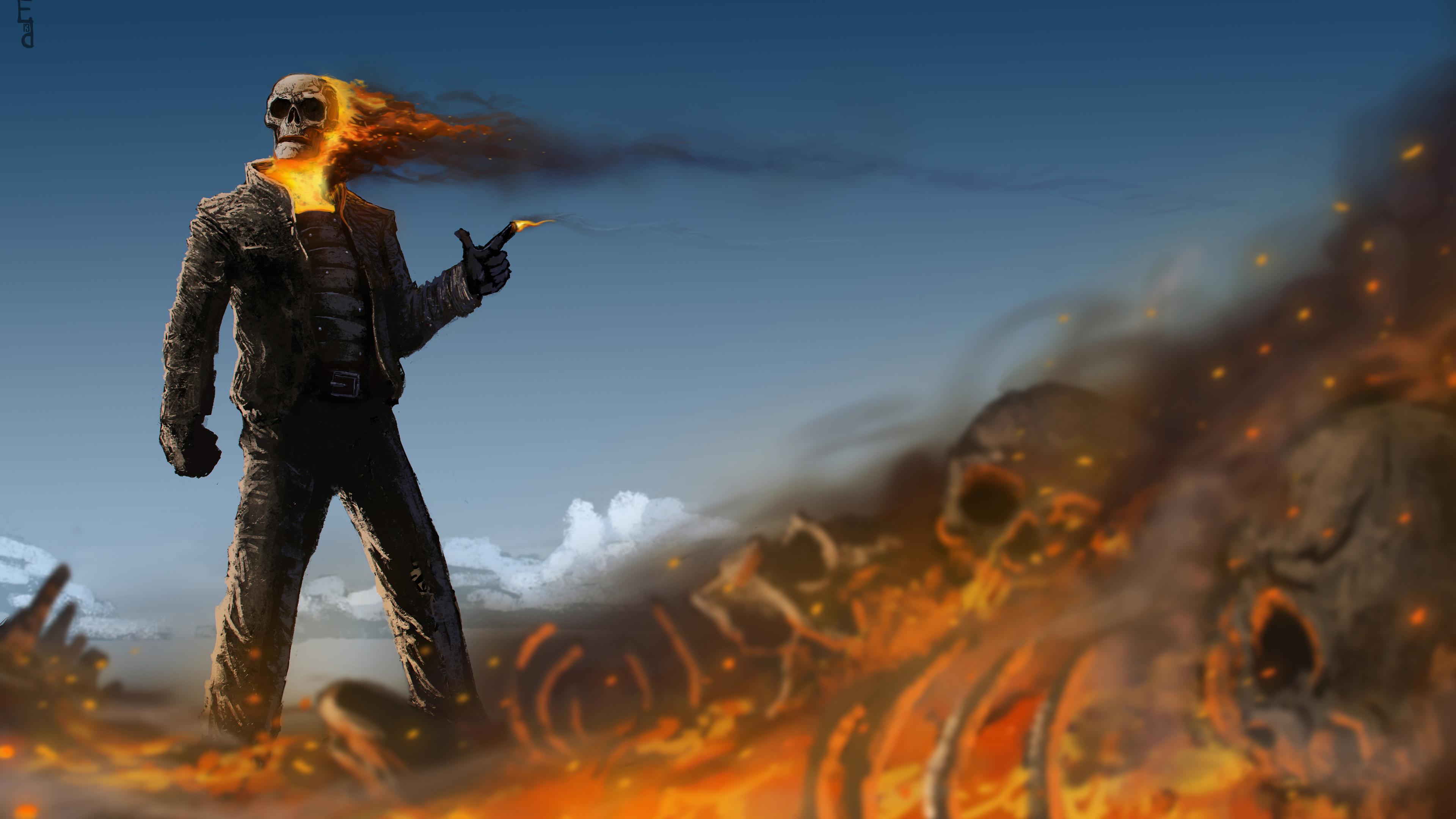 gunslinger ghost rider 4k 1553071369 - Gunslinger Ghost Rider 4k - superheroes wallpapers, hd-wallpapers, ghost rider wallpapers, deviantart wallpapers, artwork wallpapers, artist wallpapers, 4k-wallpapers