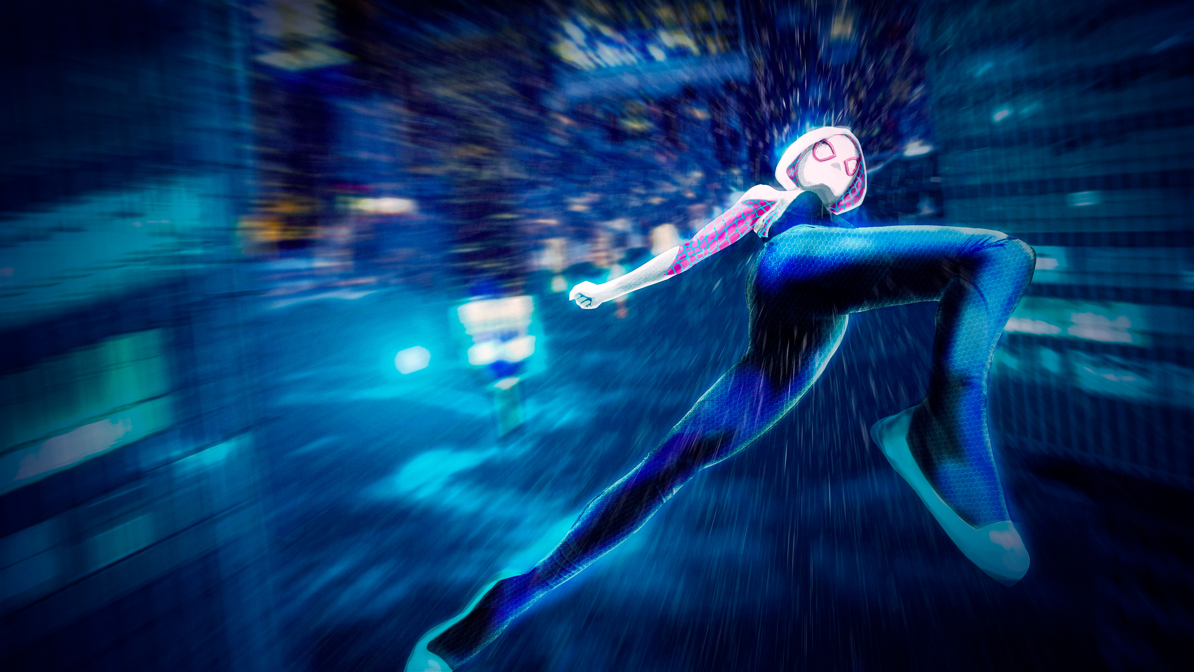 Wallpaper 4k Gwen Stacy Spider Man Into The Spider Verse 4k 4k