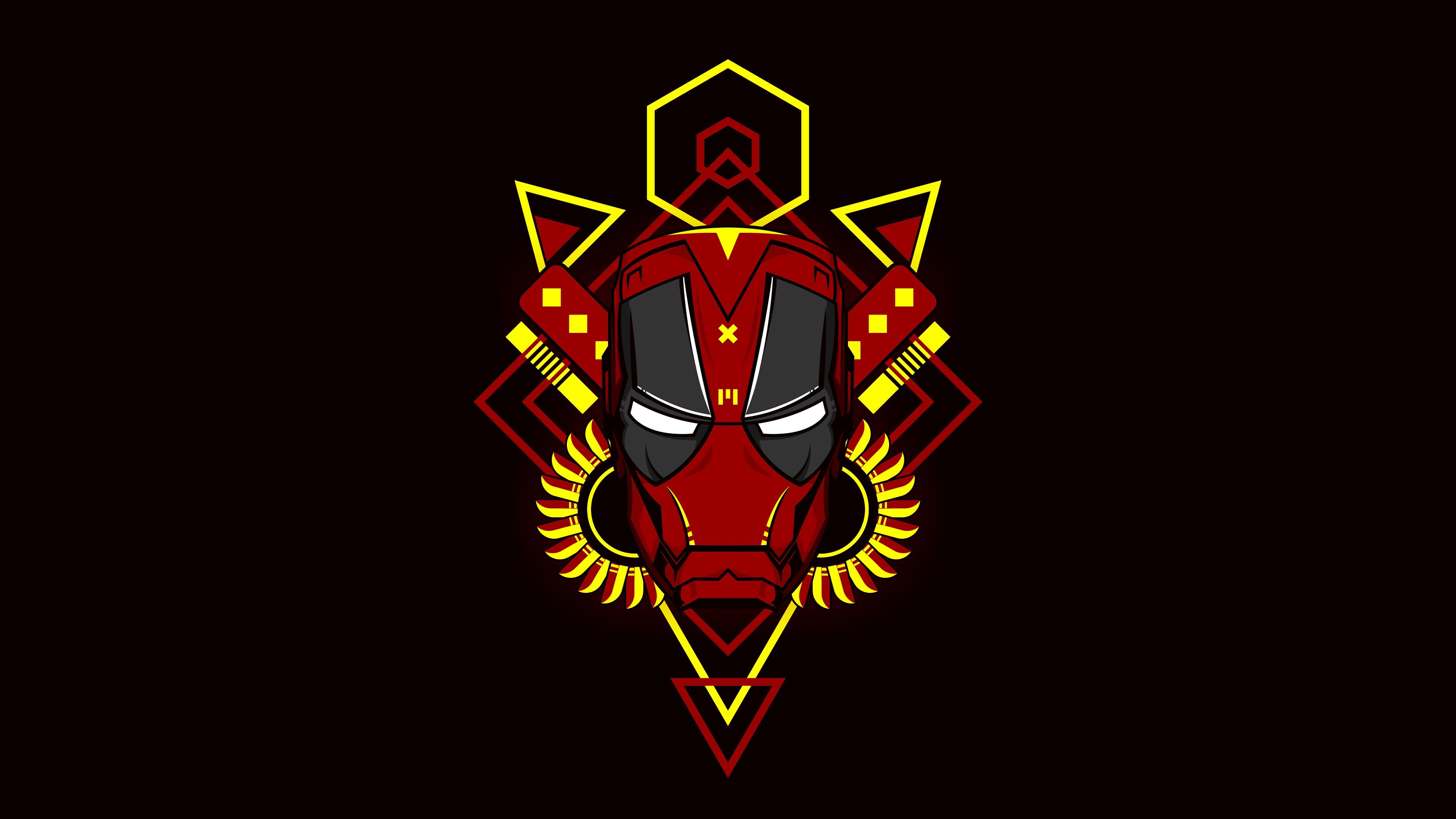 iron man deadpool version 4k 1553071890 - Iron Man Deadpool Version 4k - superheroes wallpapers, iron man wallpapers, hd-wallpapers, digital art wallpapers, behance wallpapers, artwork wallpapers, 4k-wallpapers