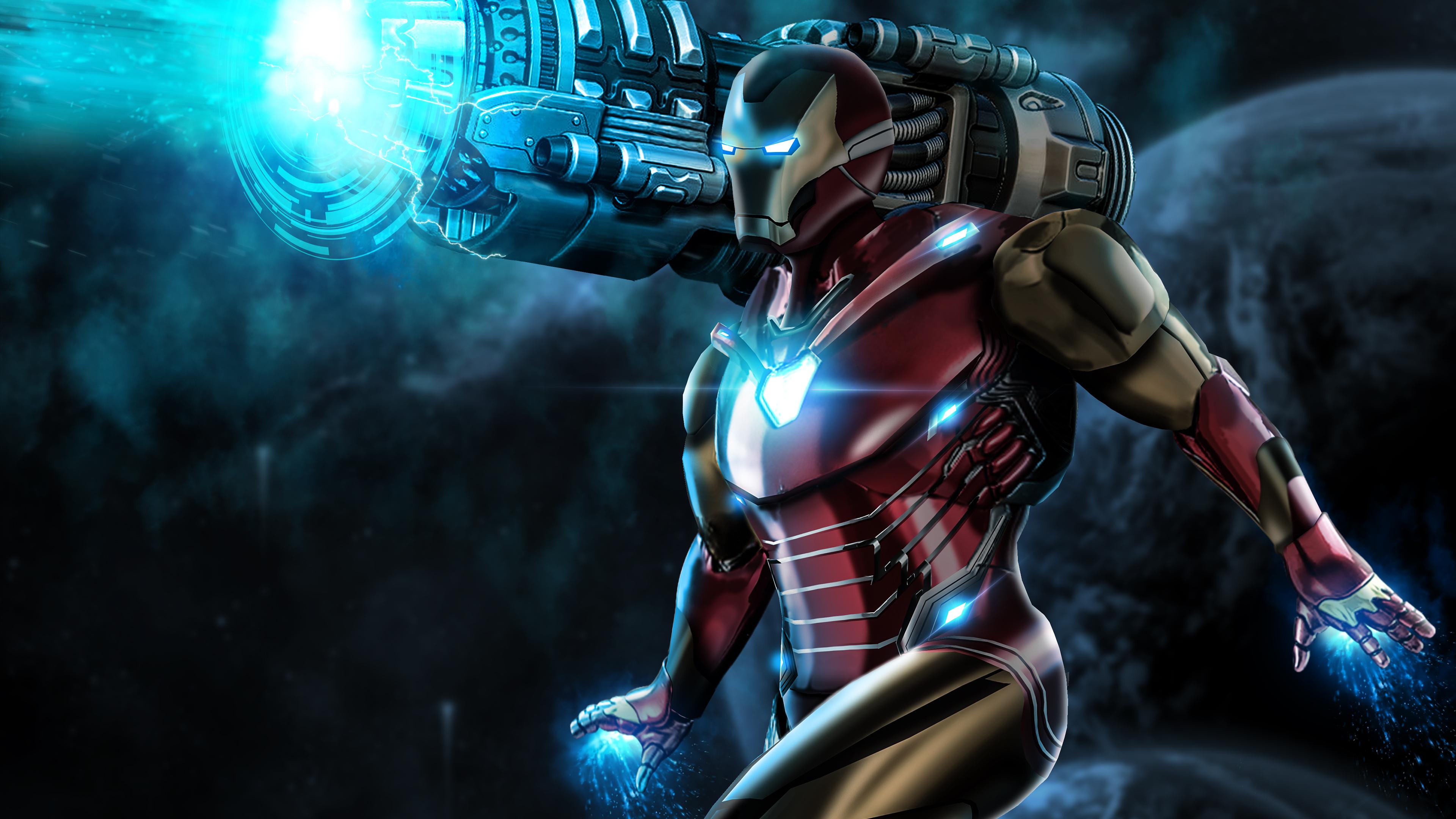 iron man proton cannon 4k 1553072158 - Iron Man Proton Cannon 4k - superheroes wallpapers, iron man wallpapers, hd-wallpapers, digital art wallpapers, behance wallpapers, artwork wallpapers