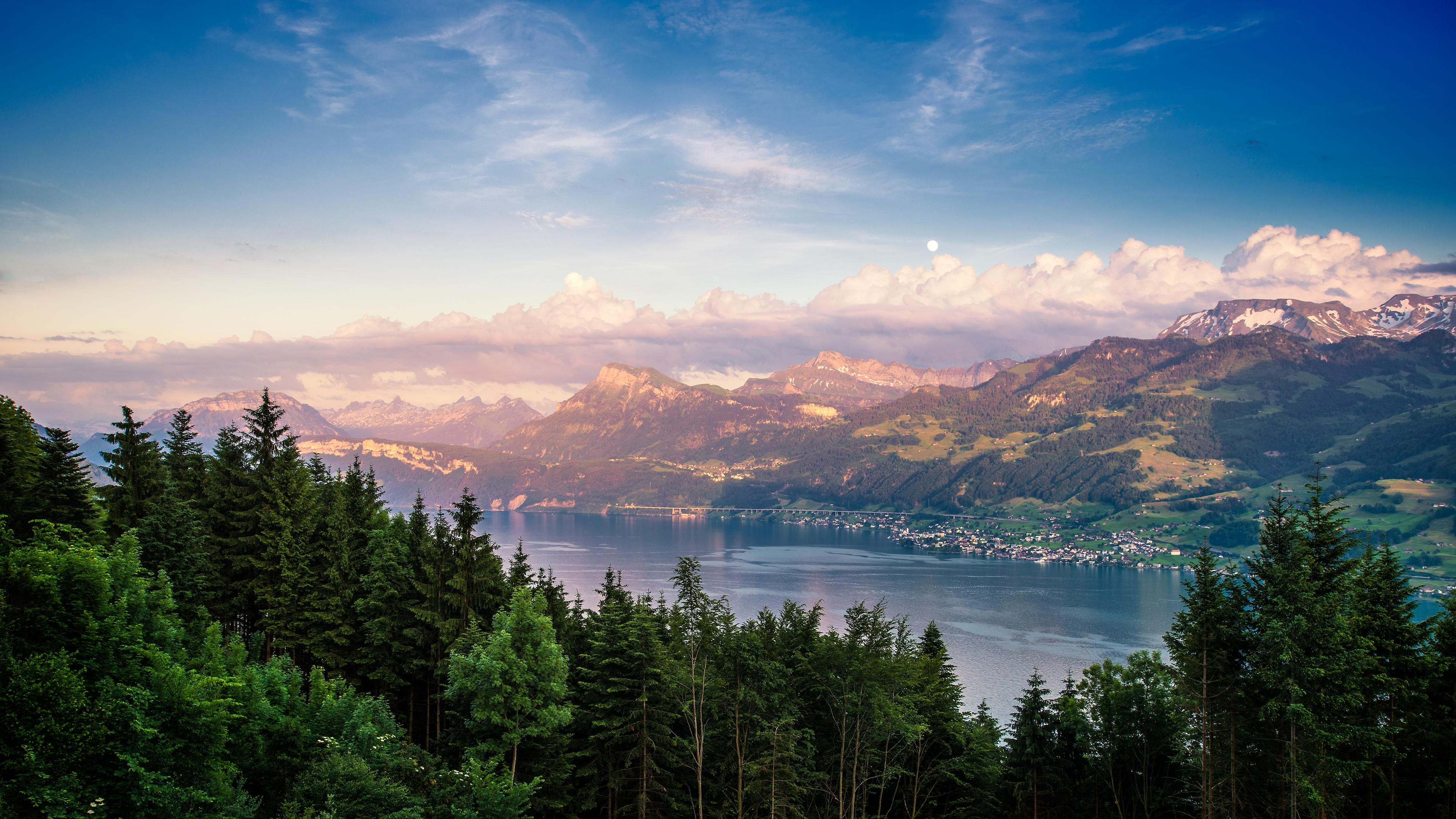 lake zurich 4k 1551644224 - Lake Zurich 4k - nature wallpapers, mountains wallpapers, lake wallpapers, hd-wallpapers, 4k-wallpapers
