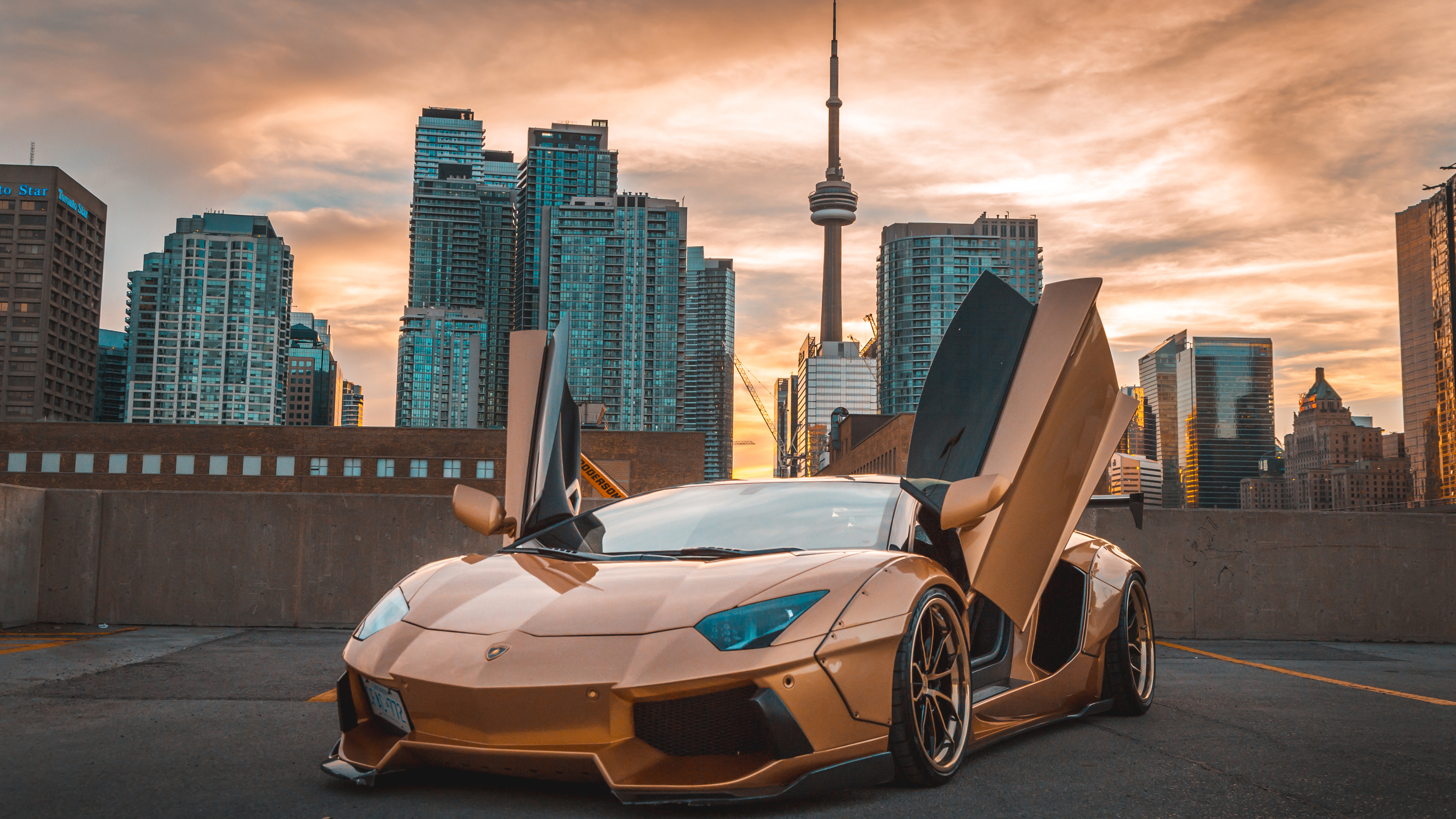 lamborghini aventador cn tower 4k 1553075737 - Lamborghini Aventador CN Tower 4k - lamborghini wallpapers, lamborghini aventador wallpapers, hd-wallpapers, cars wallpapers, 4k-wallpapers