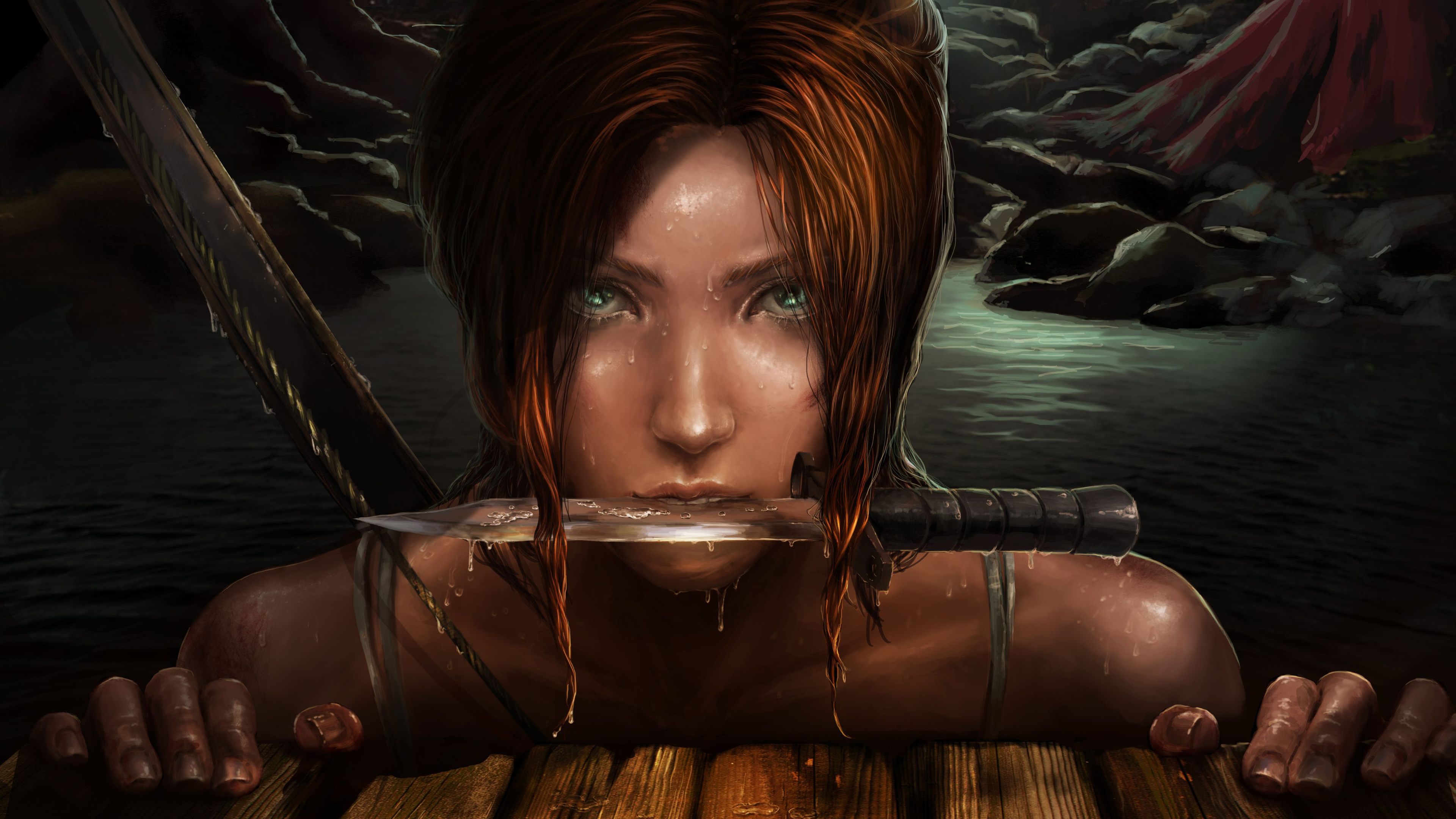 Wallpaper 4k Lara Croft Art 4k 4k Wallpapers Artwork