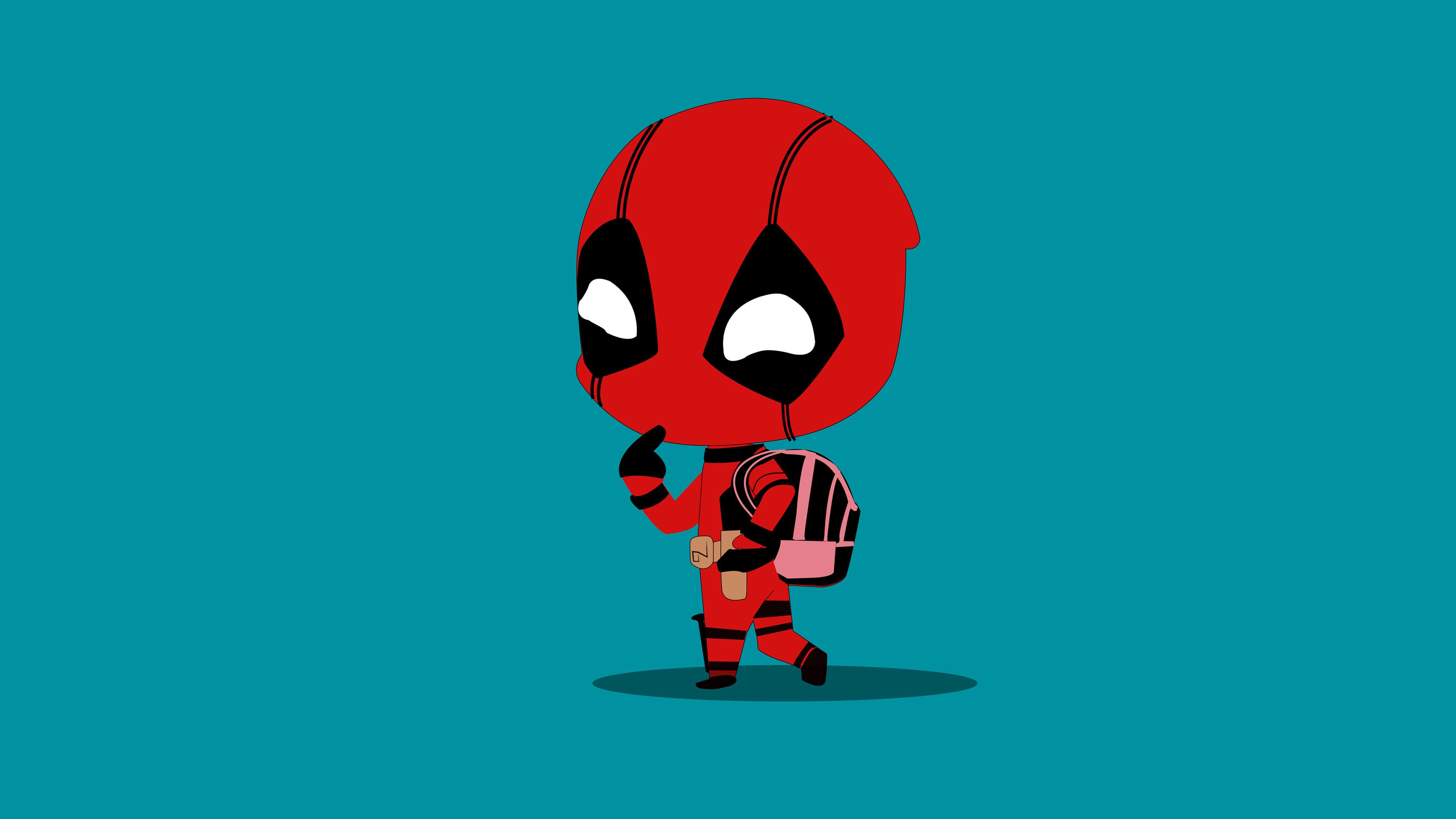 little deadpool 4k 1553072061 - Little Deadpool 4k - superheroes wallpapers, hd-wallpapers, digital art wallpapers, deadpool wallpapers, behance wallpapers, artwork wallpapers, artist wallpapers, 4k-wallpapers