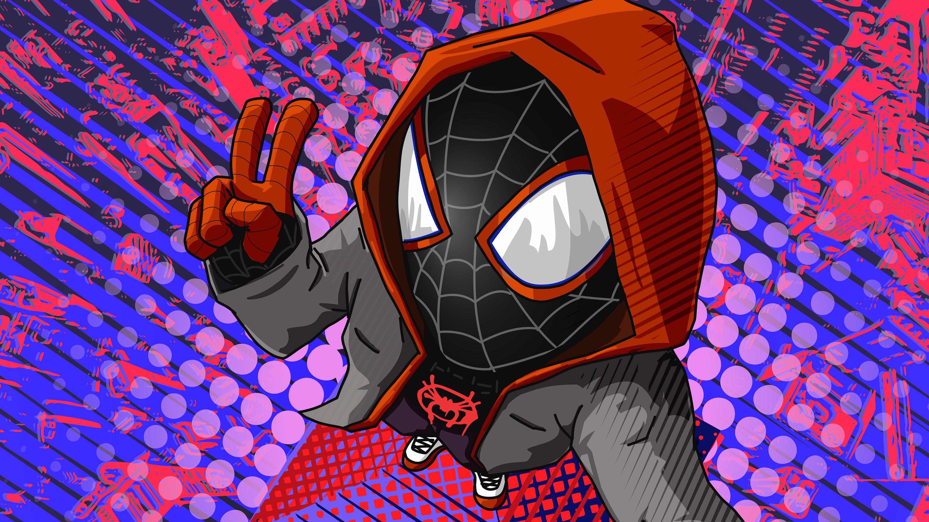 miles new spiderman 4k 1553071283 - Miles New Spiderman 4k - superheroes wallpapers, spiderman wallpapers, spiderman into the spider verse wallpapers, hd-wallpapers, digital art wallpapers, artwork wallpapers, artist wallpapers, 4k-wallpapers