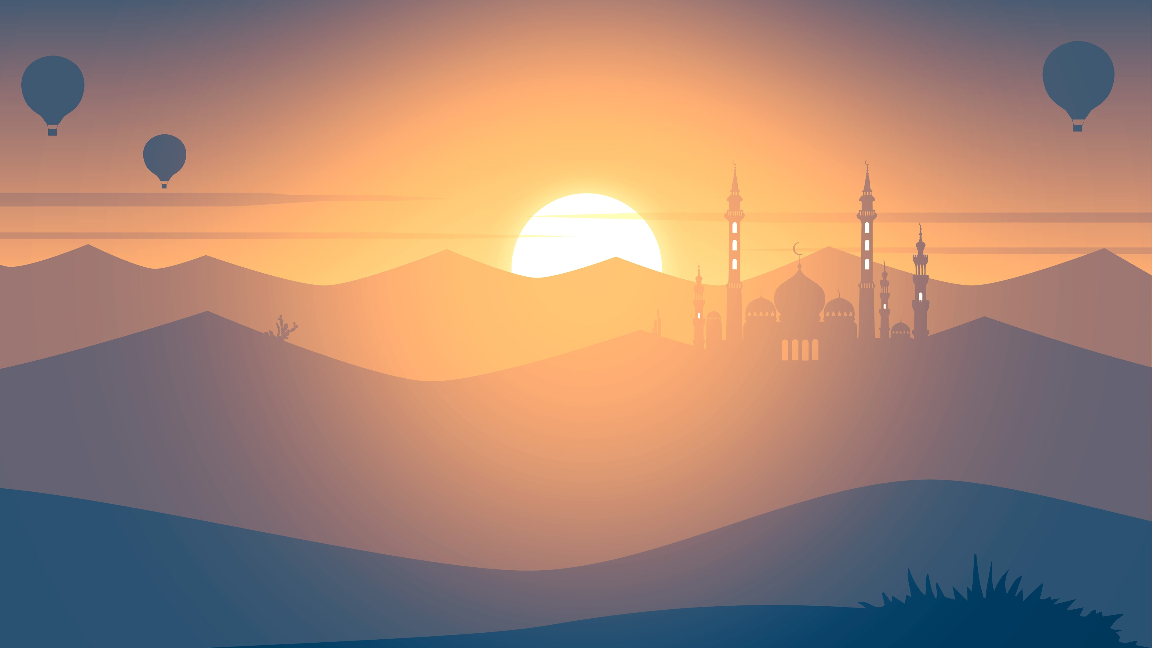 Wallpaper 4k Mosque Minimalism 4k 4k Wallpapers Artist