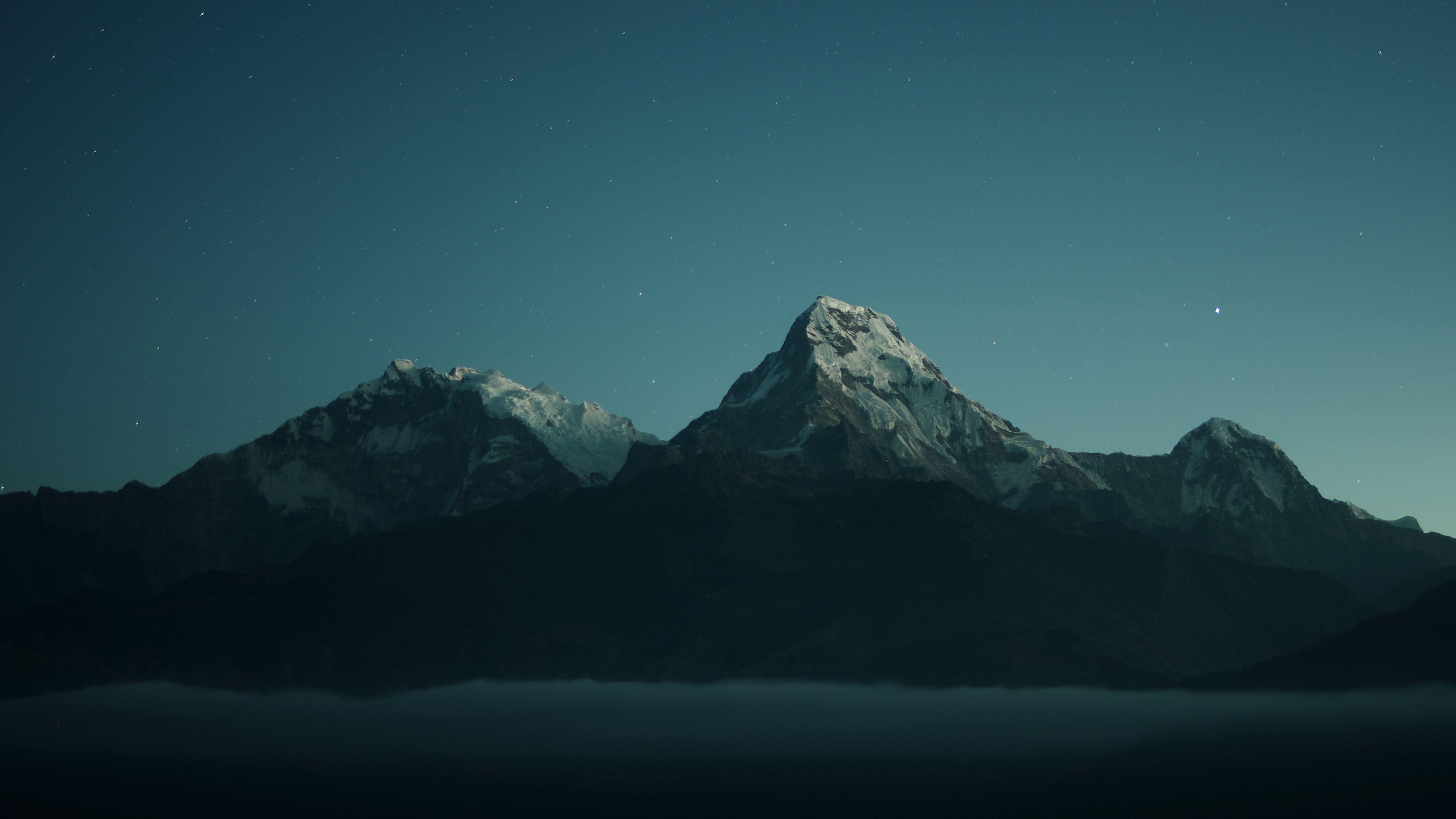 Wallpaper 4k Mountains Landscape Dark Nature 4k 4k