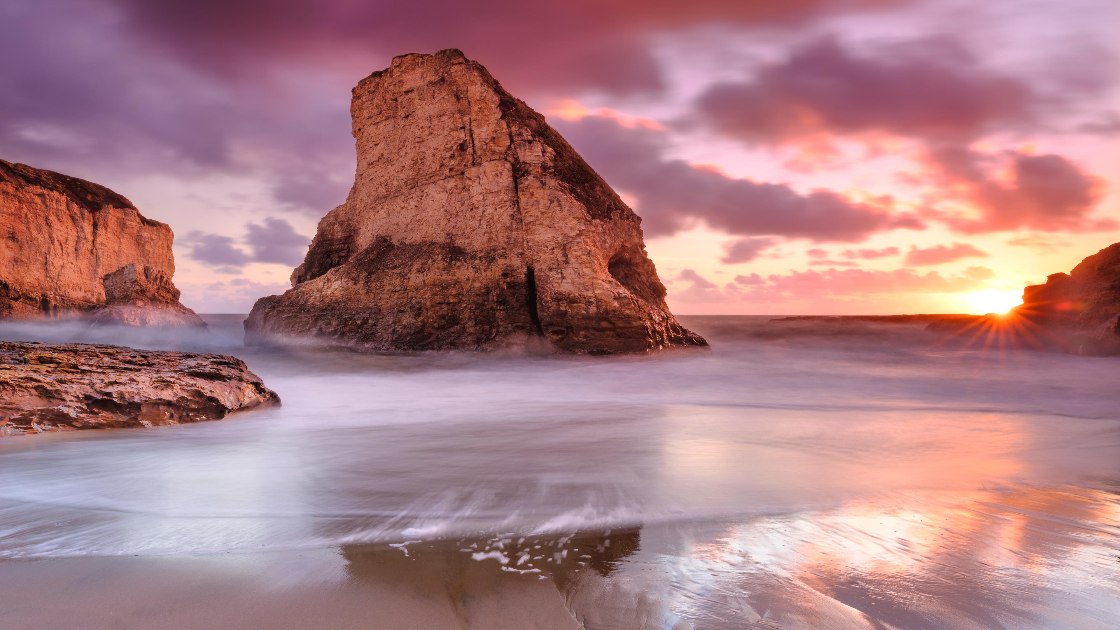 Wallpaper 4k Ocean Rocks Beach Sea Coast 4k 4k Wallpapers