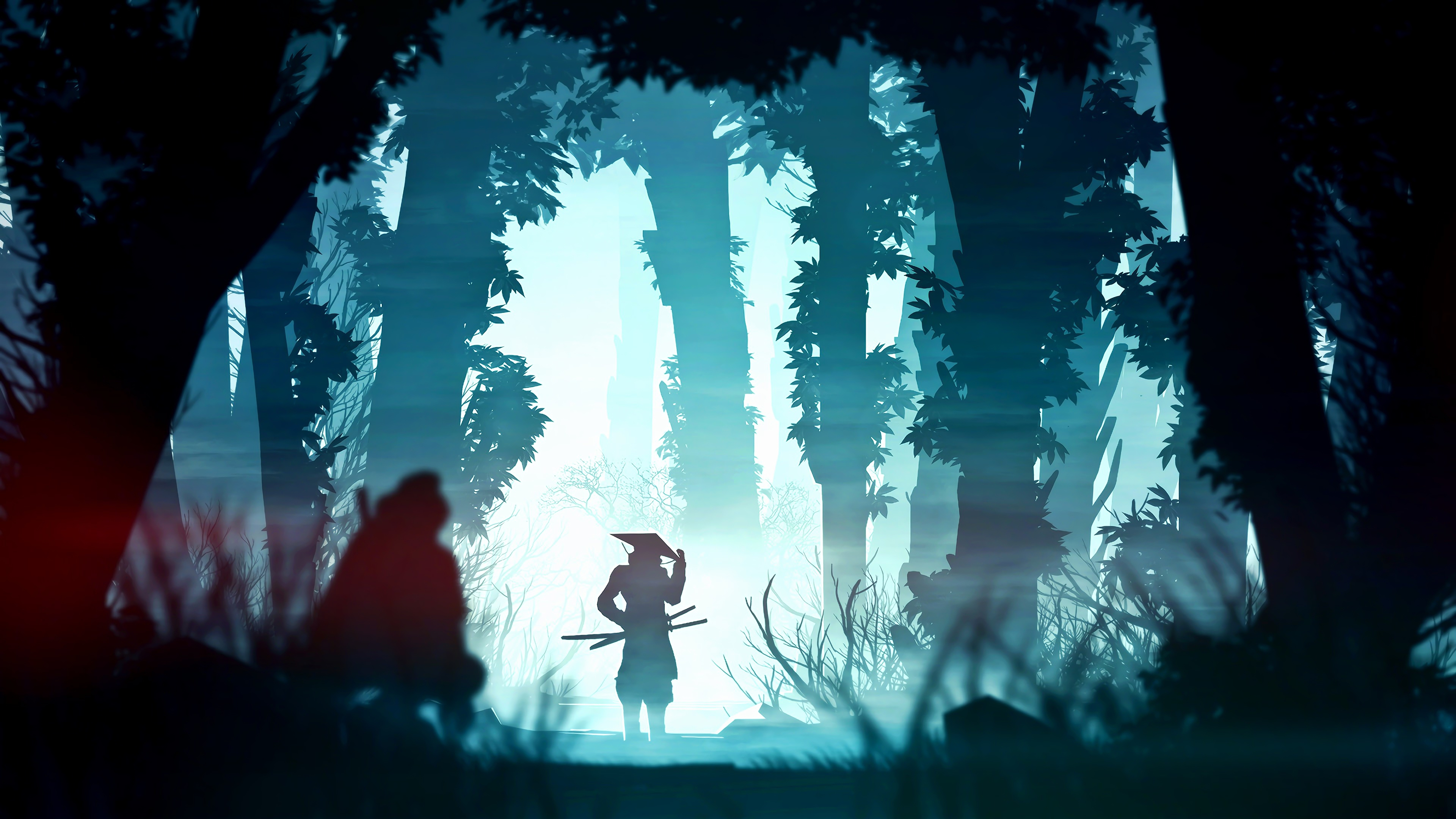 samurai digital art 4k 1551642861