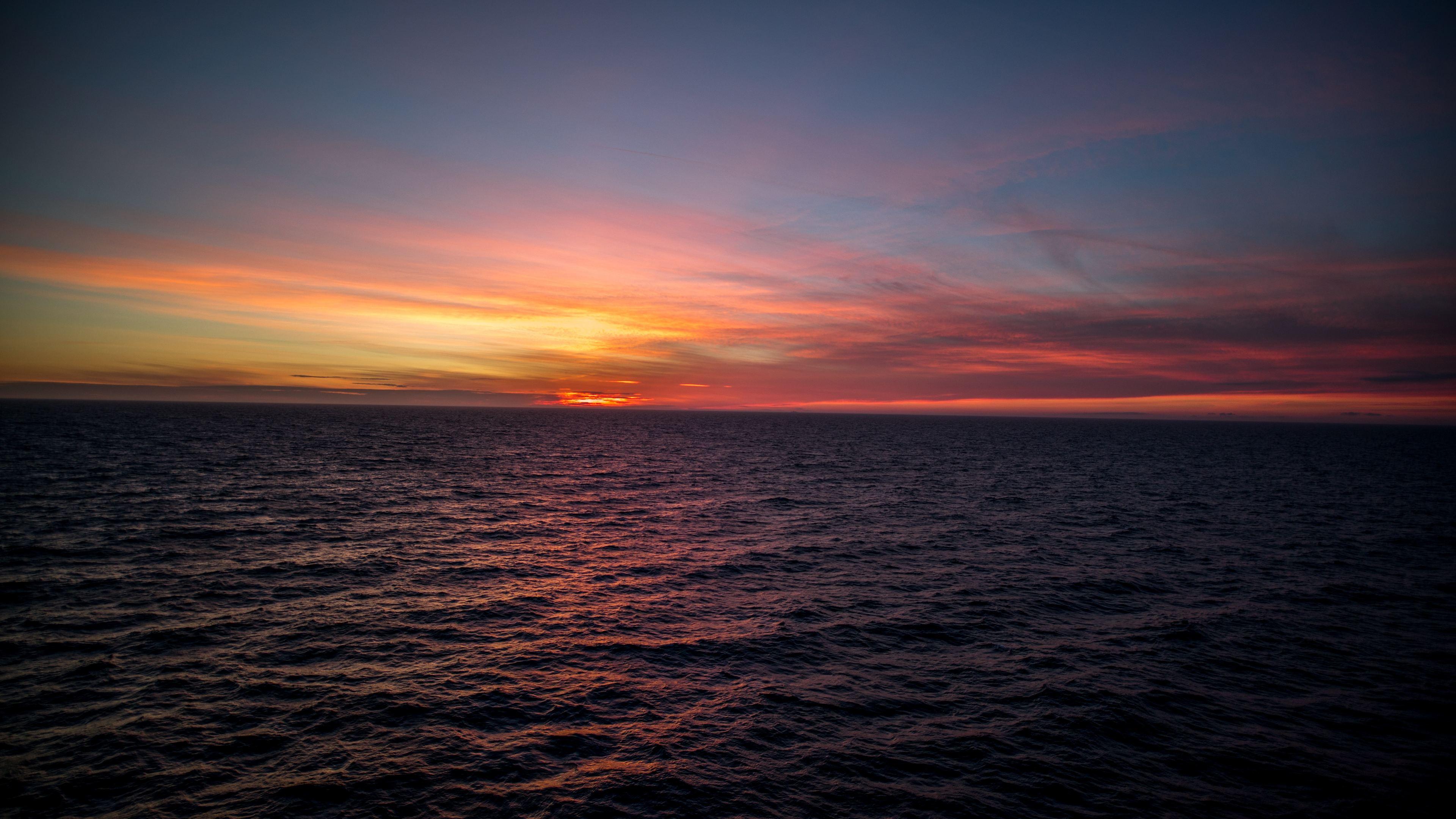 silent ocean sunset 4k 1551643676 - Silent Ocean Sunset 4k - sunset wallpapers, sky wallpapers, ocean wallpapers, nature wallpapers, hd-wallpapers, 4k-wallpapers