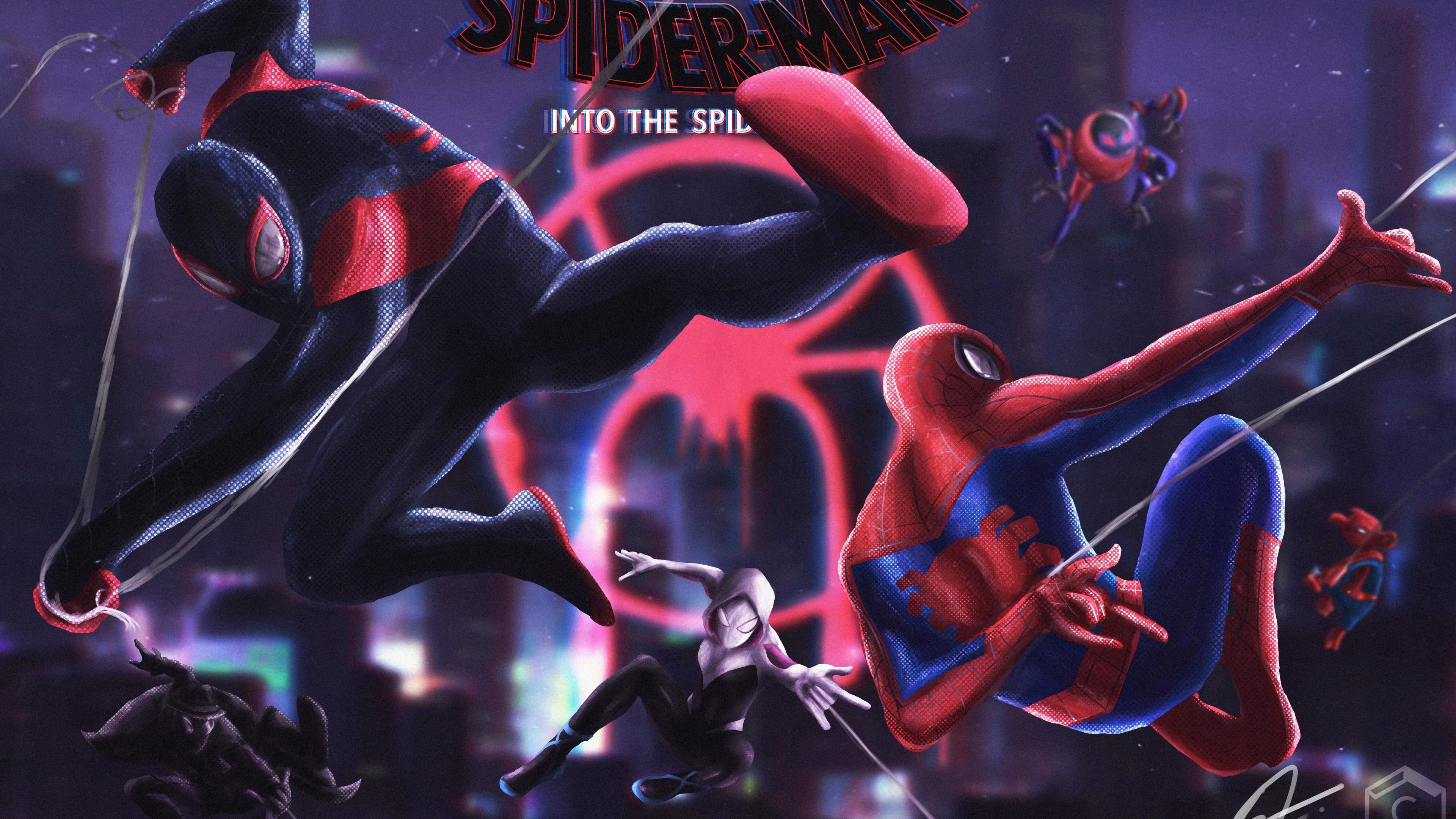spider verse artwork 4k 1553072041 - Spider Verse Artwork 4k - superheroes wallpapers, spiderman wallpapers, spiderman into the spider verse wallpapers, hd-wallpapers, 5k wallpapers, 4k-wallpapers