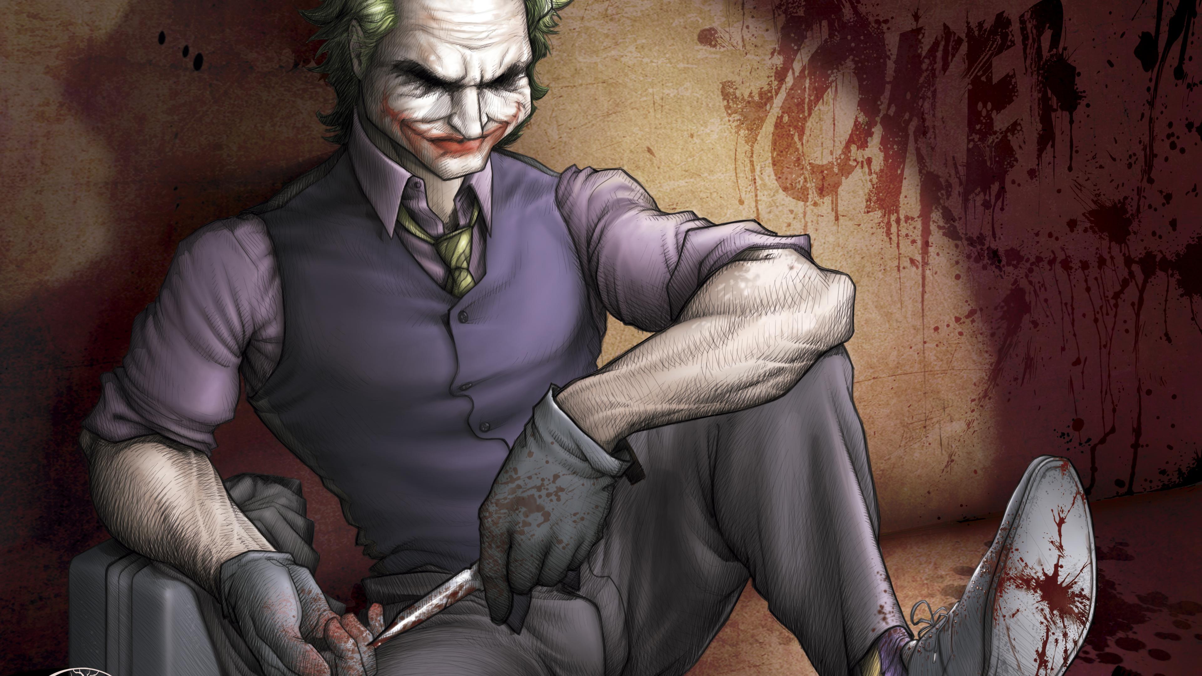 the joker art 4k 1553072059 - The Joker Art 4k - supervillain wallpapers, superheroes wallpapers, joker wallpapers, hd-wallpapers, digital art wallpapers, deviantart wallpapers, artwork wallpapers, 4k-wallpapers