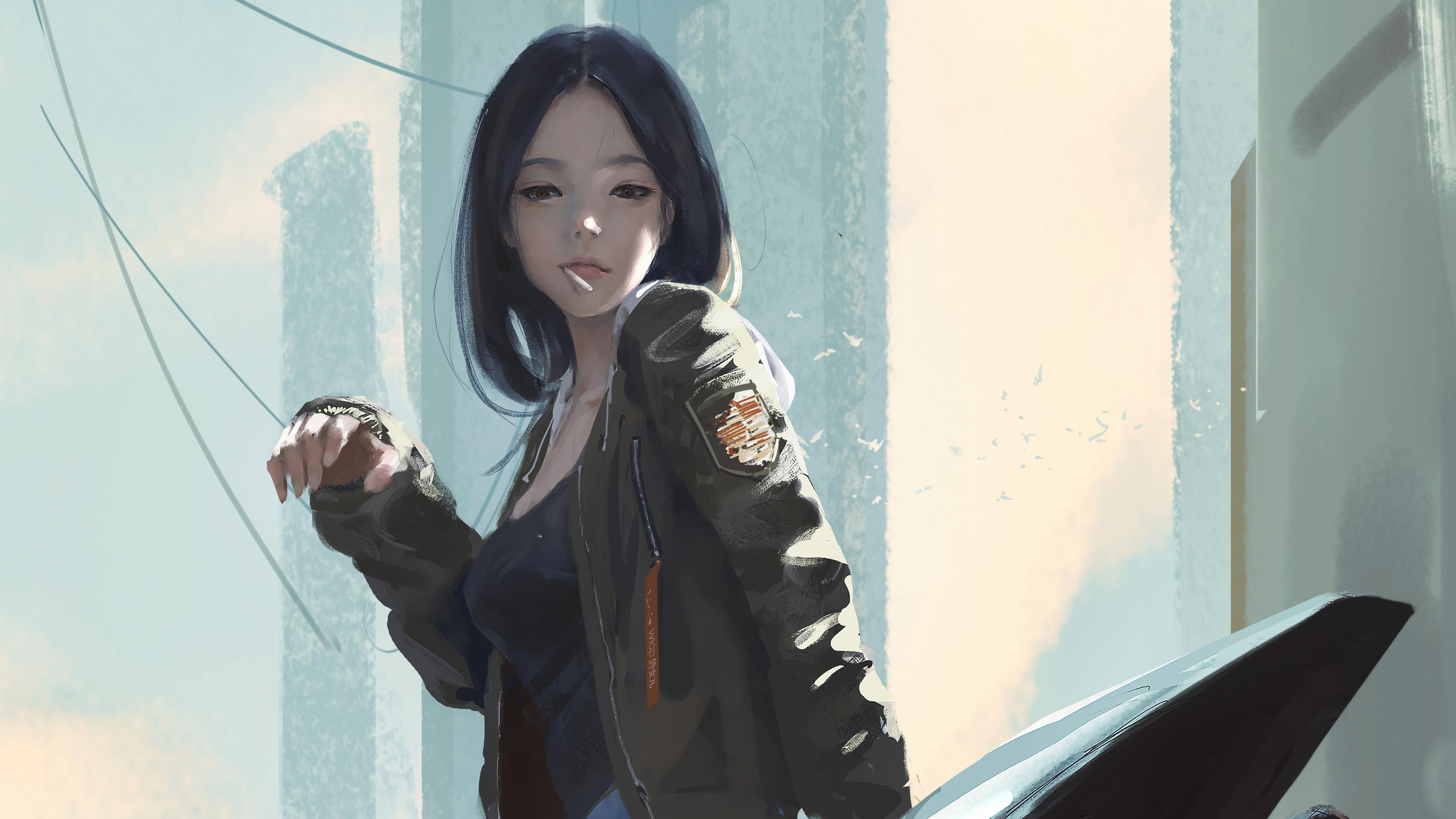 urban girl smoking cigarette 4k 1553076594 - Urban Girl Smoking Cigarette 4k - smoking wallpapers, hd-wallpapers, digital art wallpapers, deviantart wallpapers, artwork wallpapers, artist wallpapers, anime wallpapers, anime girl wallpapers, 4k-wallpapers