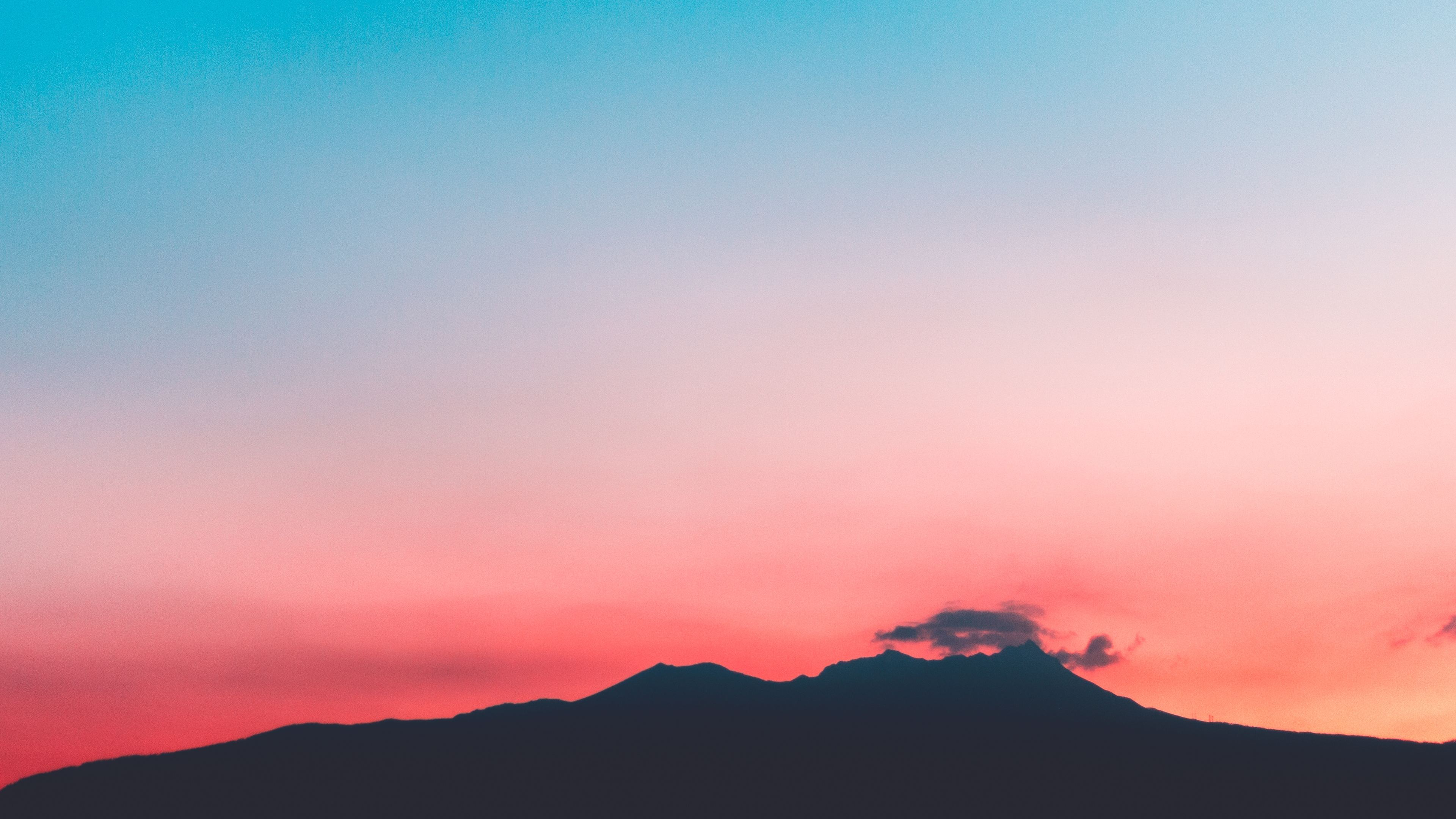 volcano pink sunset hill 4k 1551643449 - Volcano Pink Sunset Hill 4k - sunset wallpapers, nature wallpapers, mountains wallpapers, hd-wallpapers, 4k-wallpapers