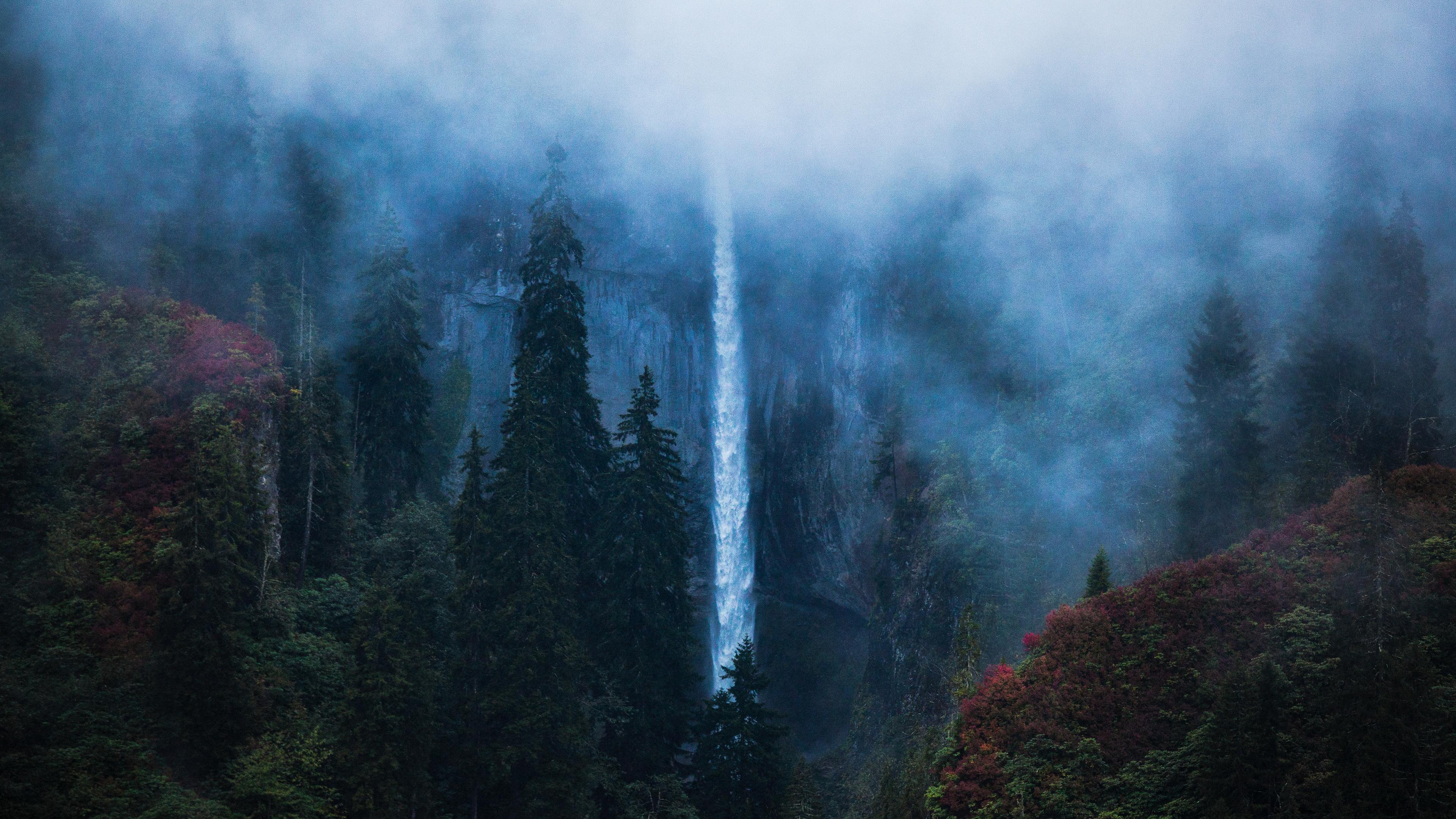 Wallpaper 4k Waterfall Borcka Karagol In Turkey 4k 4k