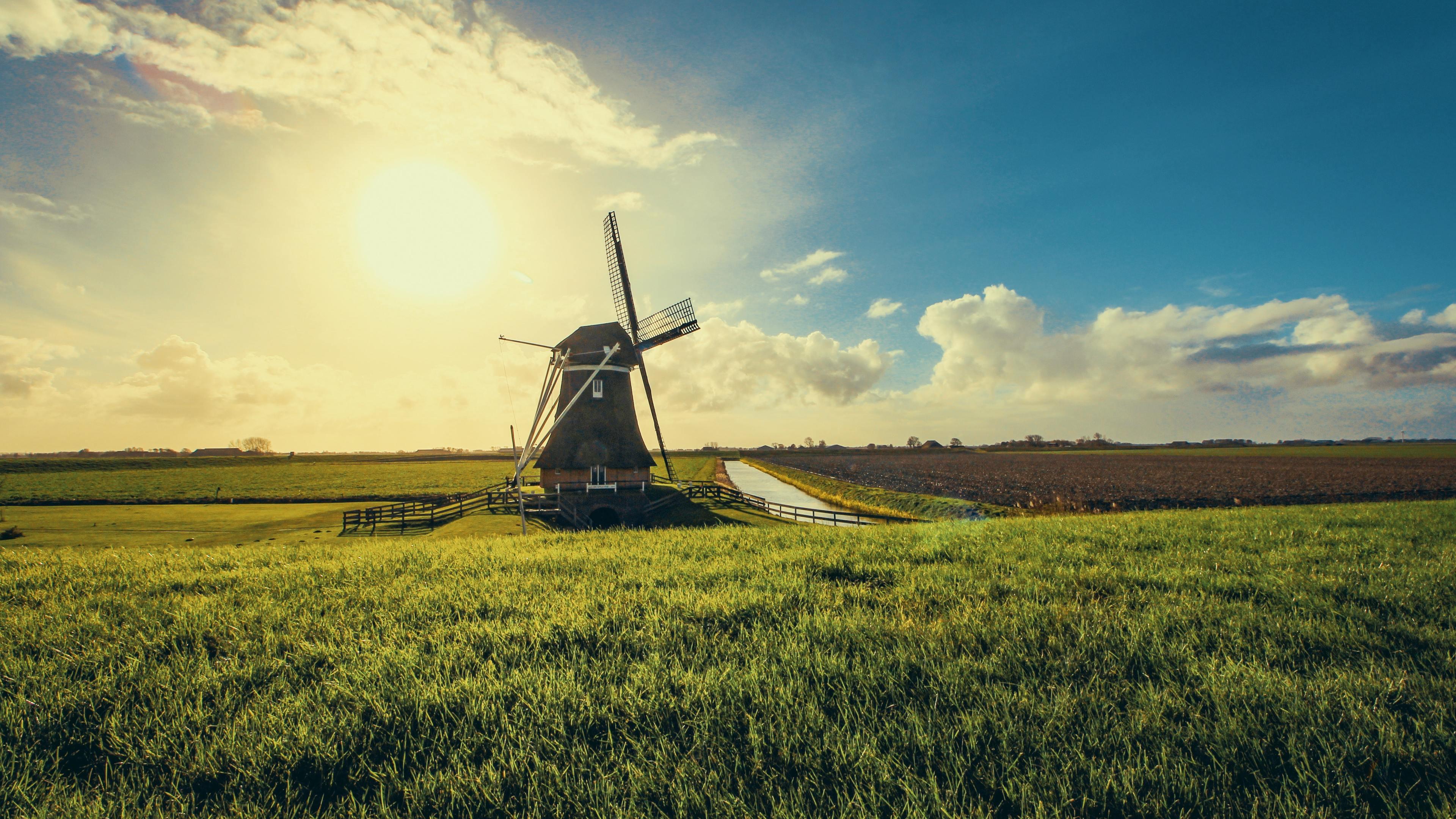 windmill 4k 1551644554 - Windmill 4k - windmill wallpapers, nature wallpapers, hd-wallpapers, field wallpapers, 4k-wallpapers