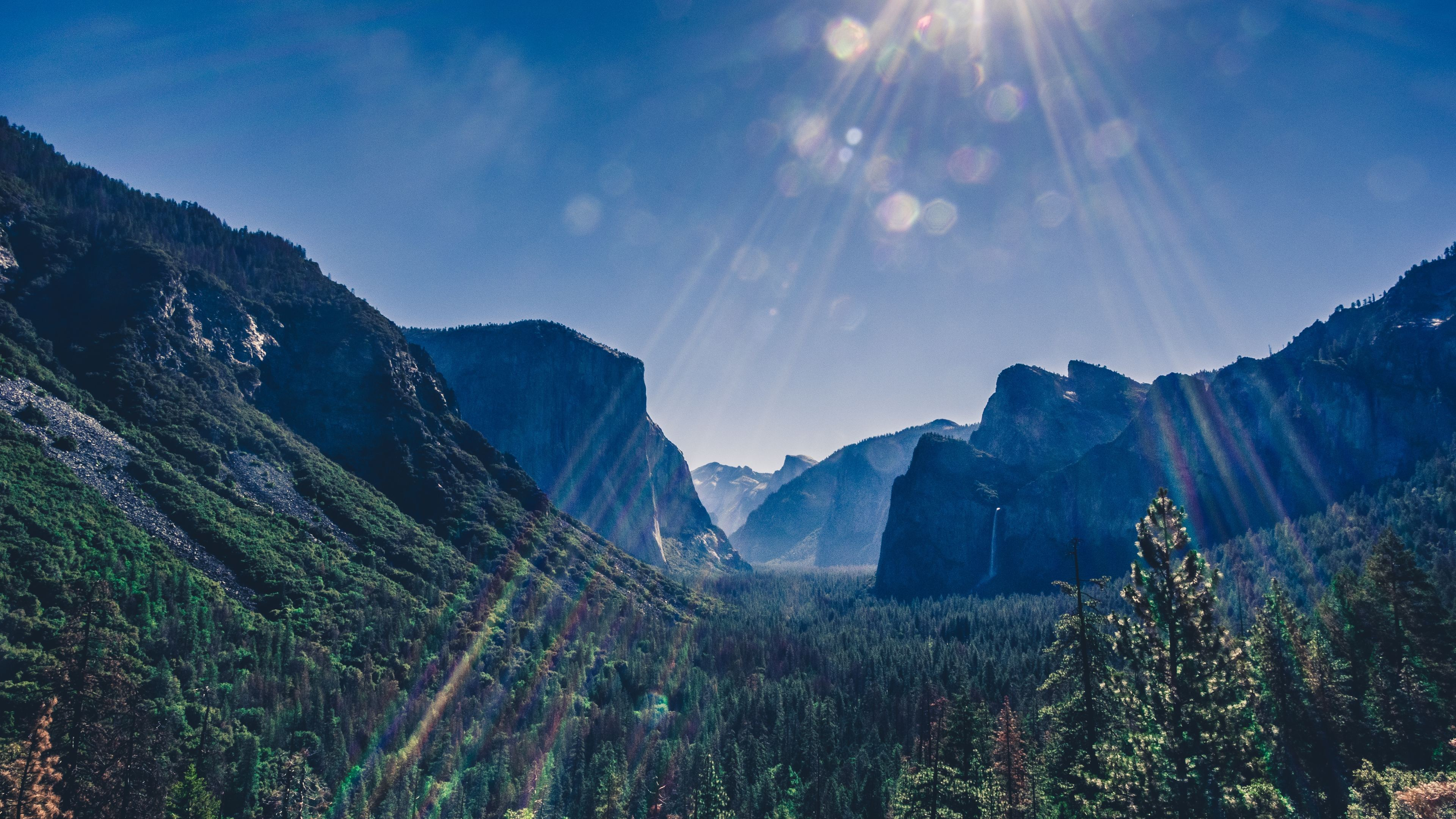 yosemite valley landsacpe 4k 1551643825 - Yosemite Valley Landsacpe 4k - yosemite wallpapers, valley wallpapers, sunbeam wallpapers, nature wallpapers, mountains wallpapers, landscape wallpapers, hd-wallpapers, 4k-wallpapers