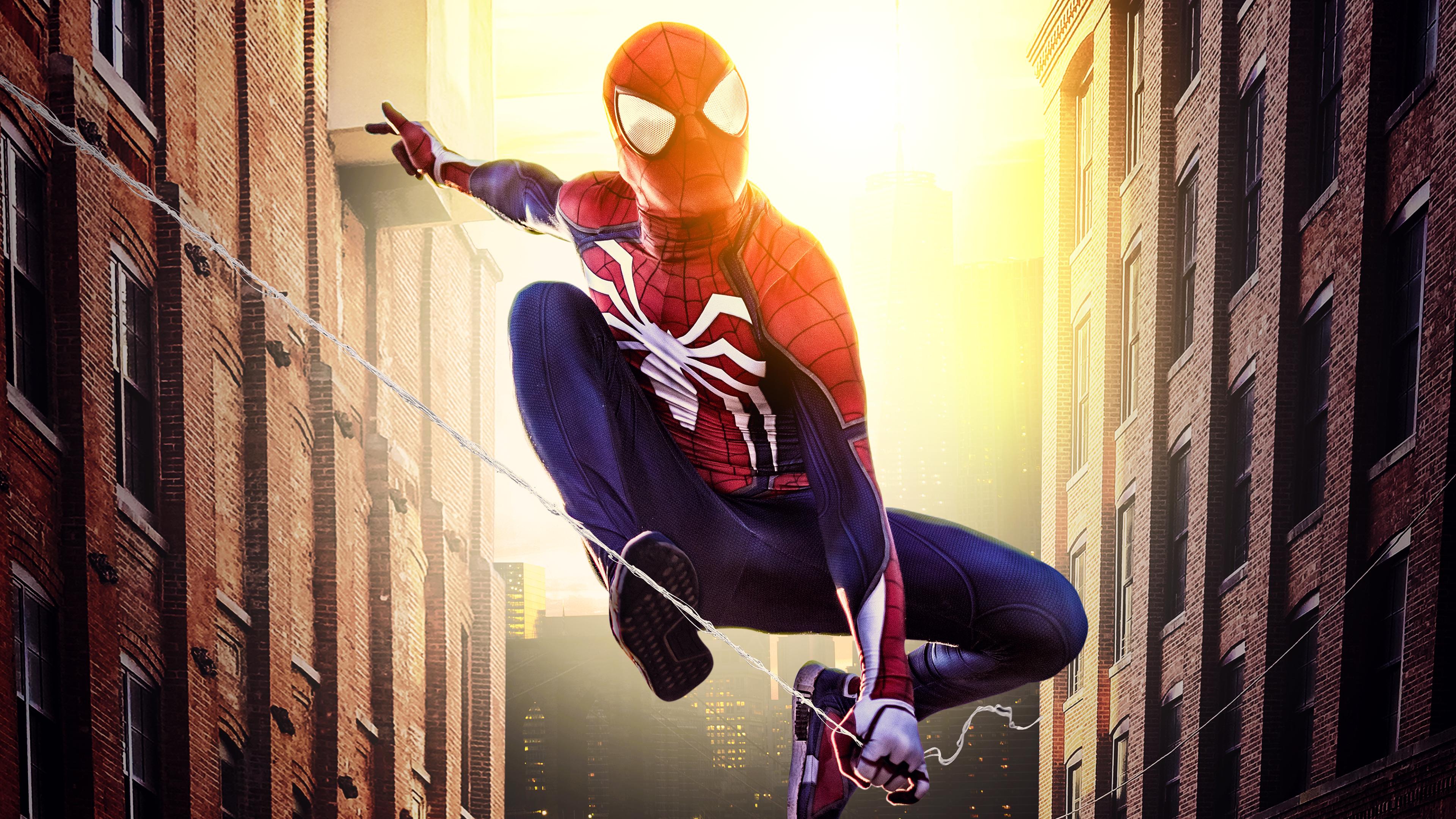 4k spiderman new york 1554244978 - 4k Spiderman New York - superheroes wallpapers, spiderman wallpapers, hd-wallpapers, digital art wallpapers, behance wallpapers, artwork wallpapers, artist wallpapers, 4k-wallpapers