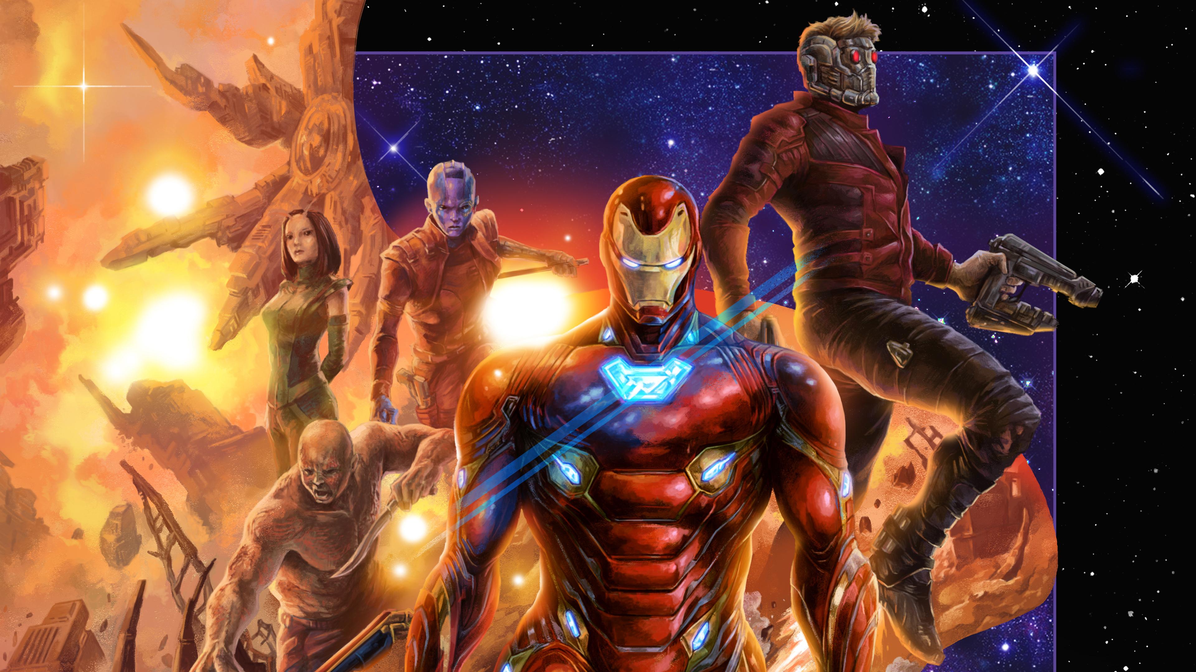 avengers infinity war 4k artworks 1554244762 - Avengers Infinity War 4k Artworks - superheroes wallpapers, star lord wallpapers, iron man wallpapers, hd-wallpapers, digital art wallpapers, behance wallpapers, avengers-infinity-war-wallpapers, artwork wallpapers, 4k-wallpapers
