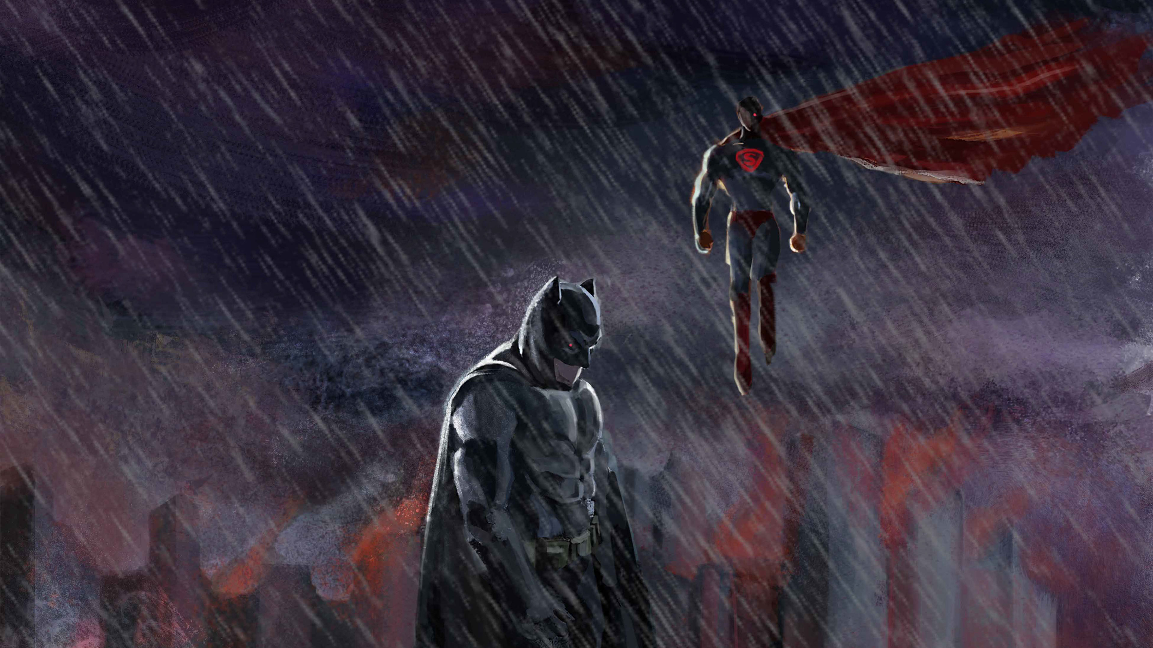 batman and superman 4k 1554245047 - Batman And Superman 4k - superman wallpapers, superheroes wallpapers, hd-wallpapers, digital art wallpapers, behance wallpapers, batman wallpapers, 4k-wallpapers