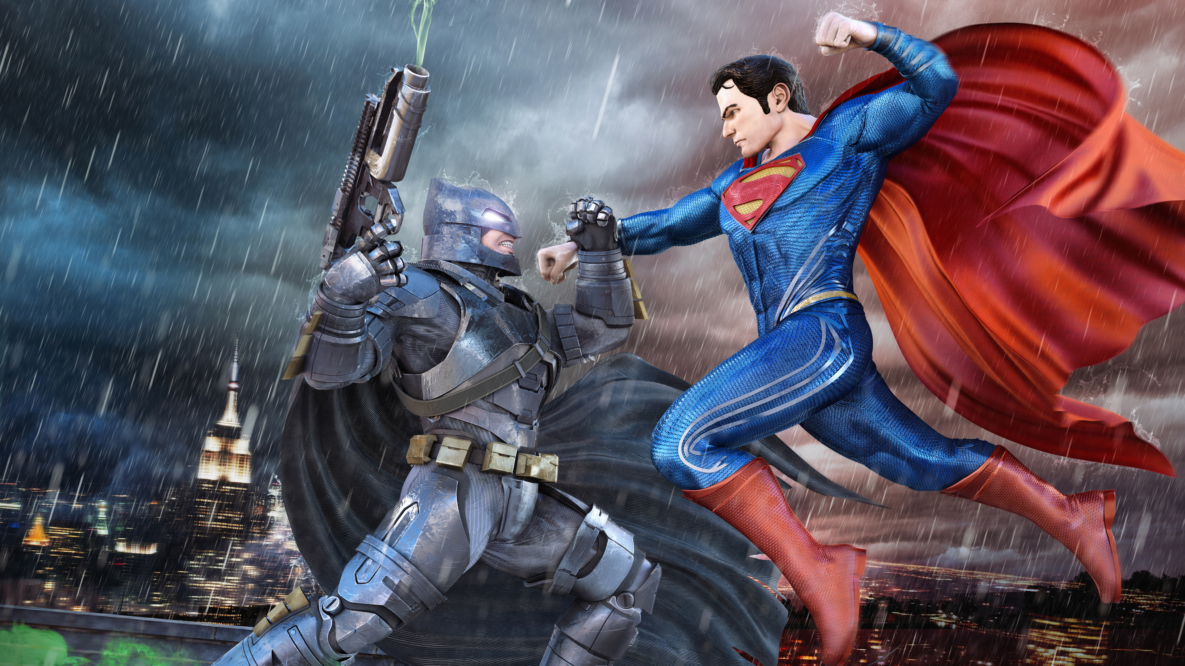 batman superman fight 4k 1556184769 - Batman Superman Fight 4k - superman wallpapers, superheroes wallpapers, hd-wallpapers, digital art wallpapers, behance wallpapers, batman wallpapers, artwork wallpapers, 4k-wallpapers