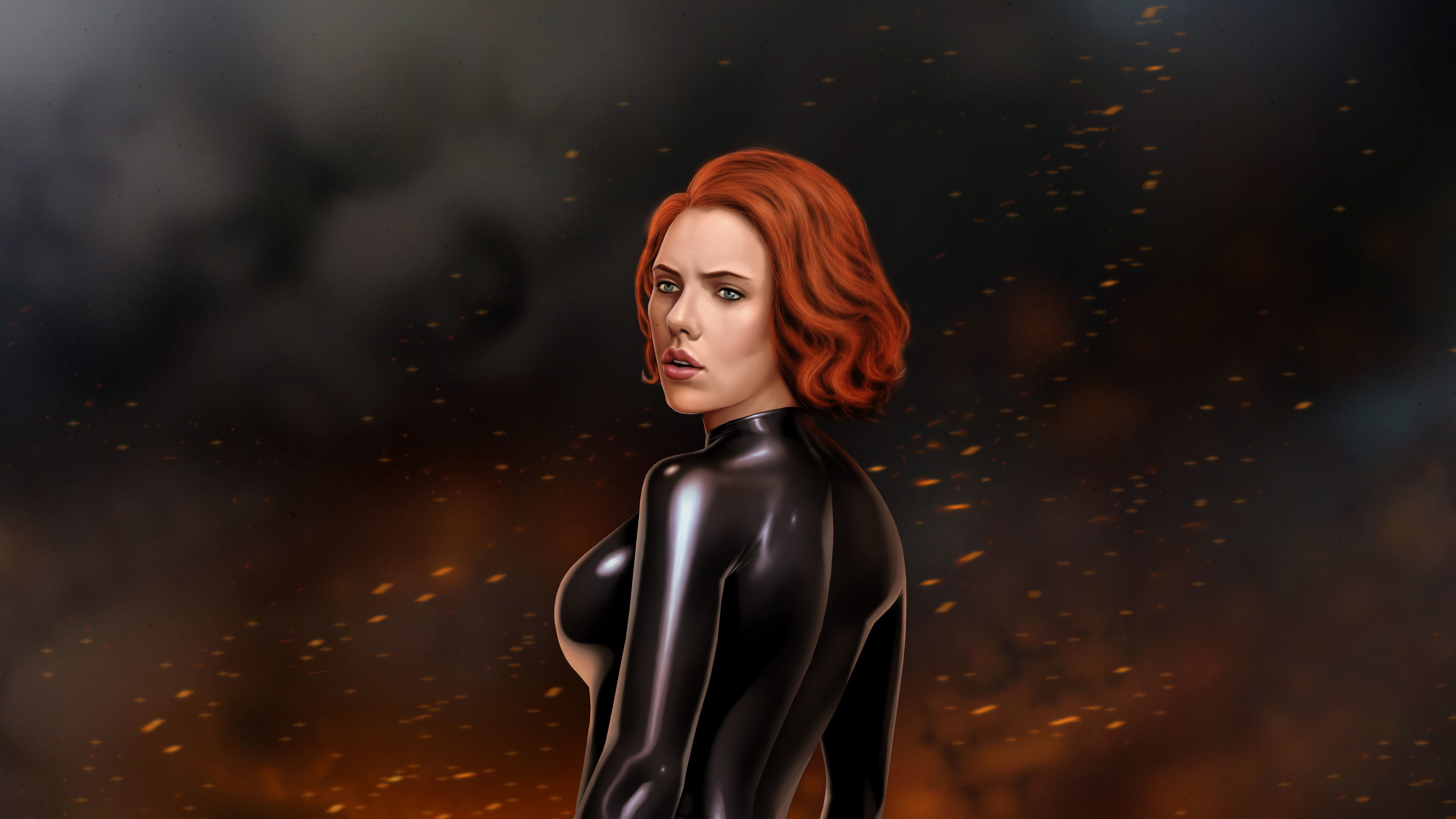 black widow digital artwork 4k 1555206628 - Black Widow Digital Artwork 4k - superheroes wallpapers, hd-wallpapers, digital art wallpapers, deviantart wallpapers, black widow wallpapers, artwork wallpapers, 5k wallpapers, 4k-wallpapers
