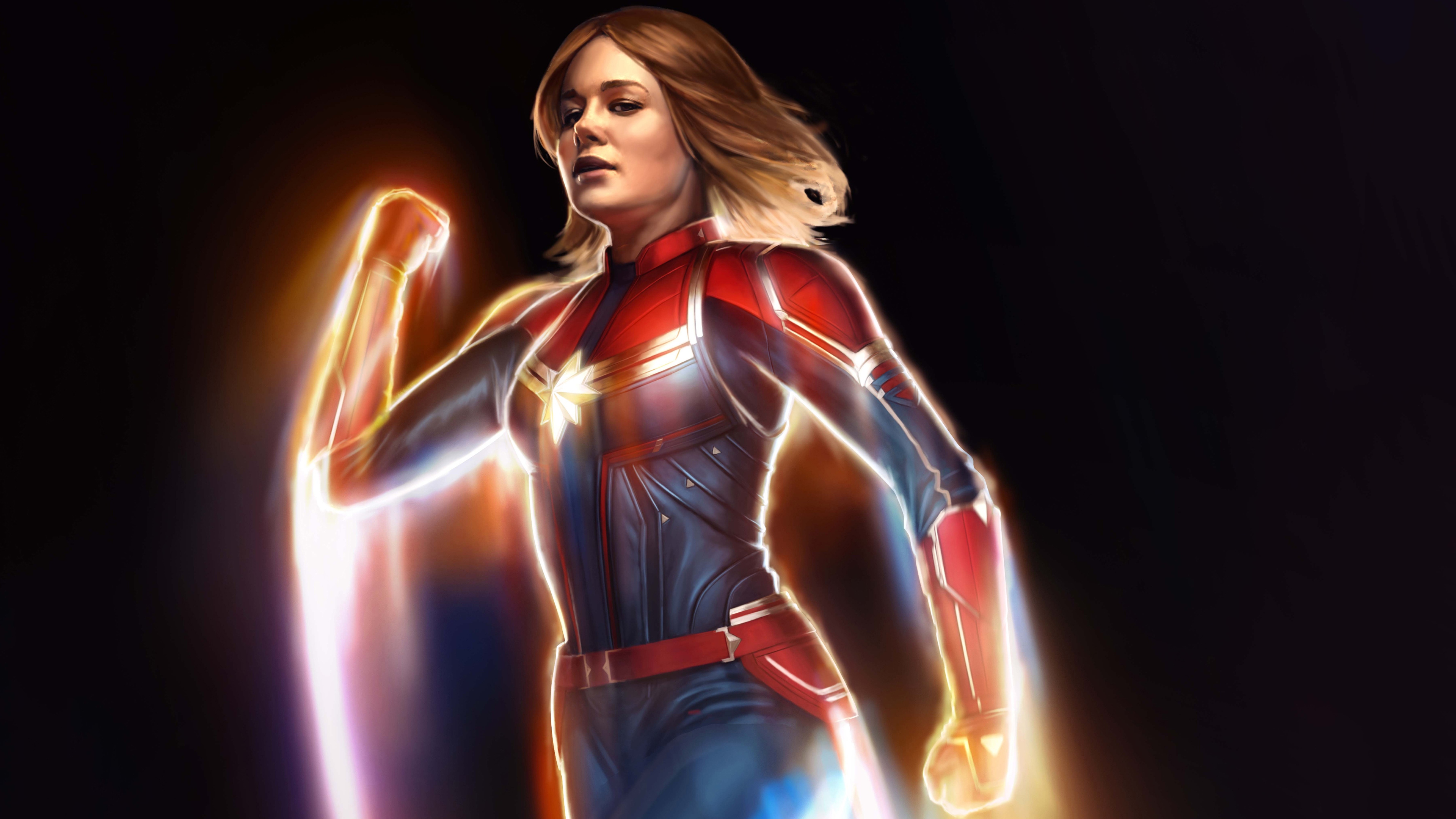 Wallpaper 4k Captain Marvel 4k New Artwork 4k Wallpapers 5k